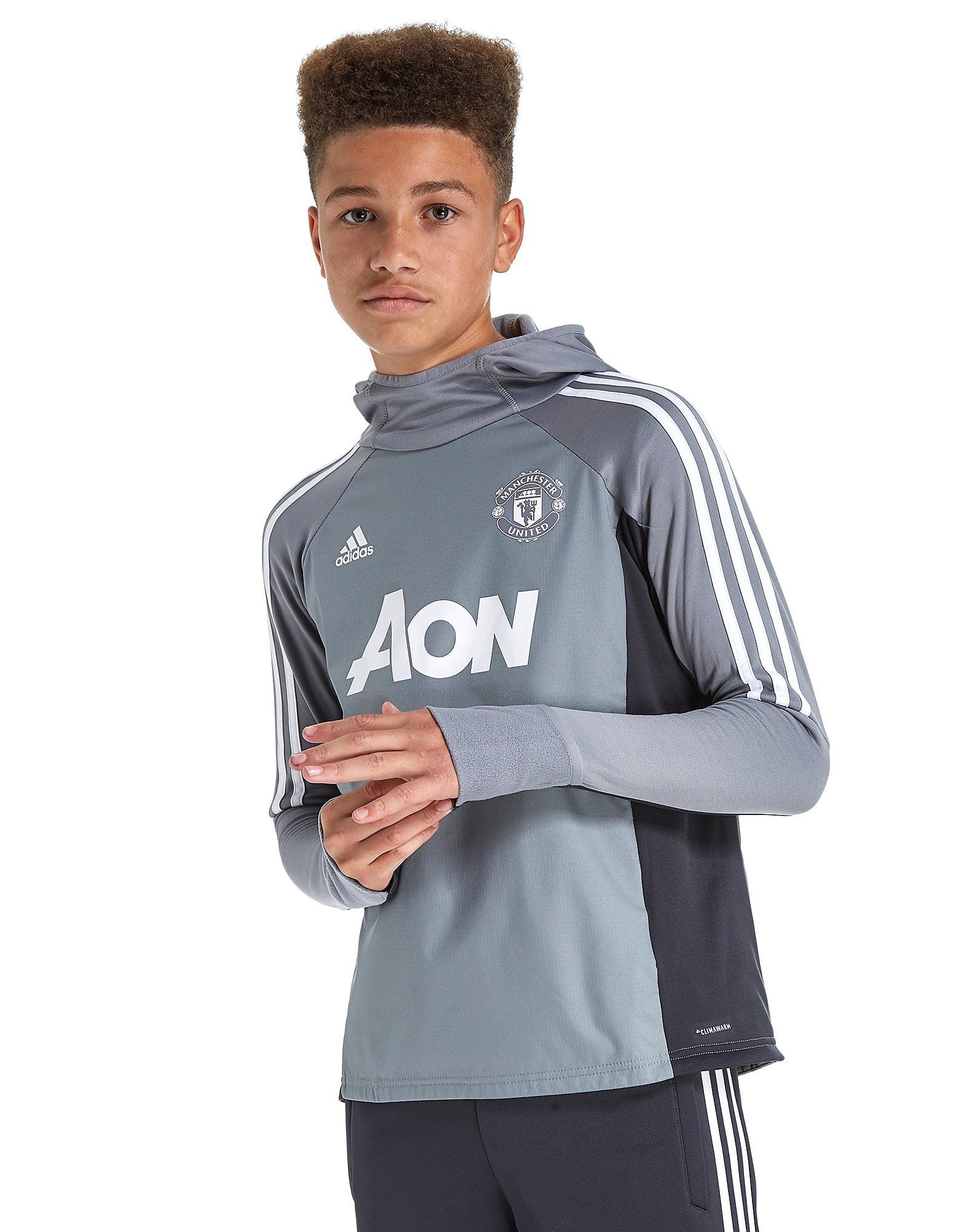 adidas Manchester United 2017 Trainingskapuzenpullover Junior