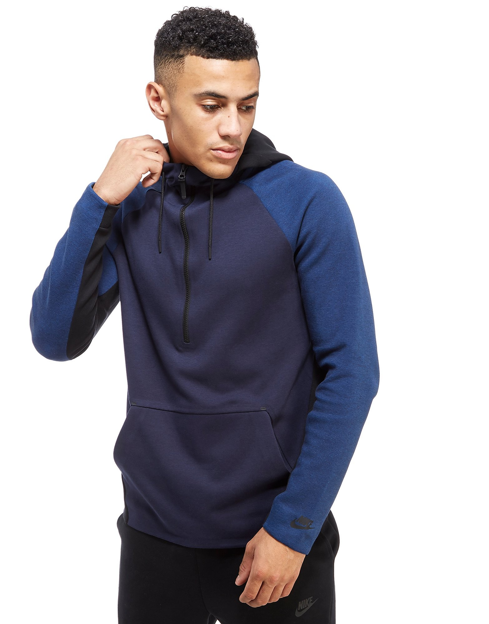 Nike Tech Colour Block Felpa con Zip e Cappuccio