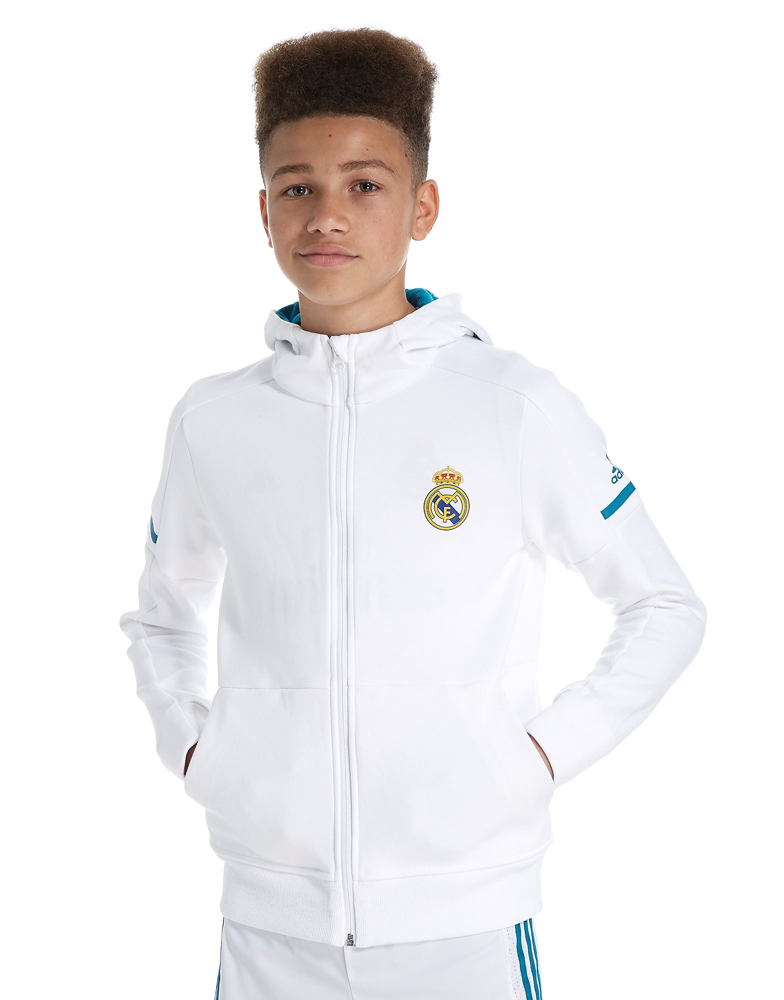 adidas Sweat à capuche Real Madrid 2017 Anthem Junior