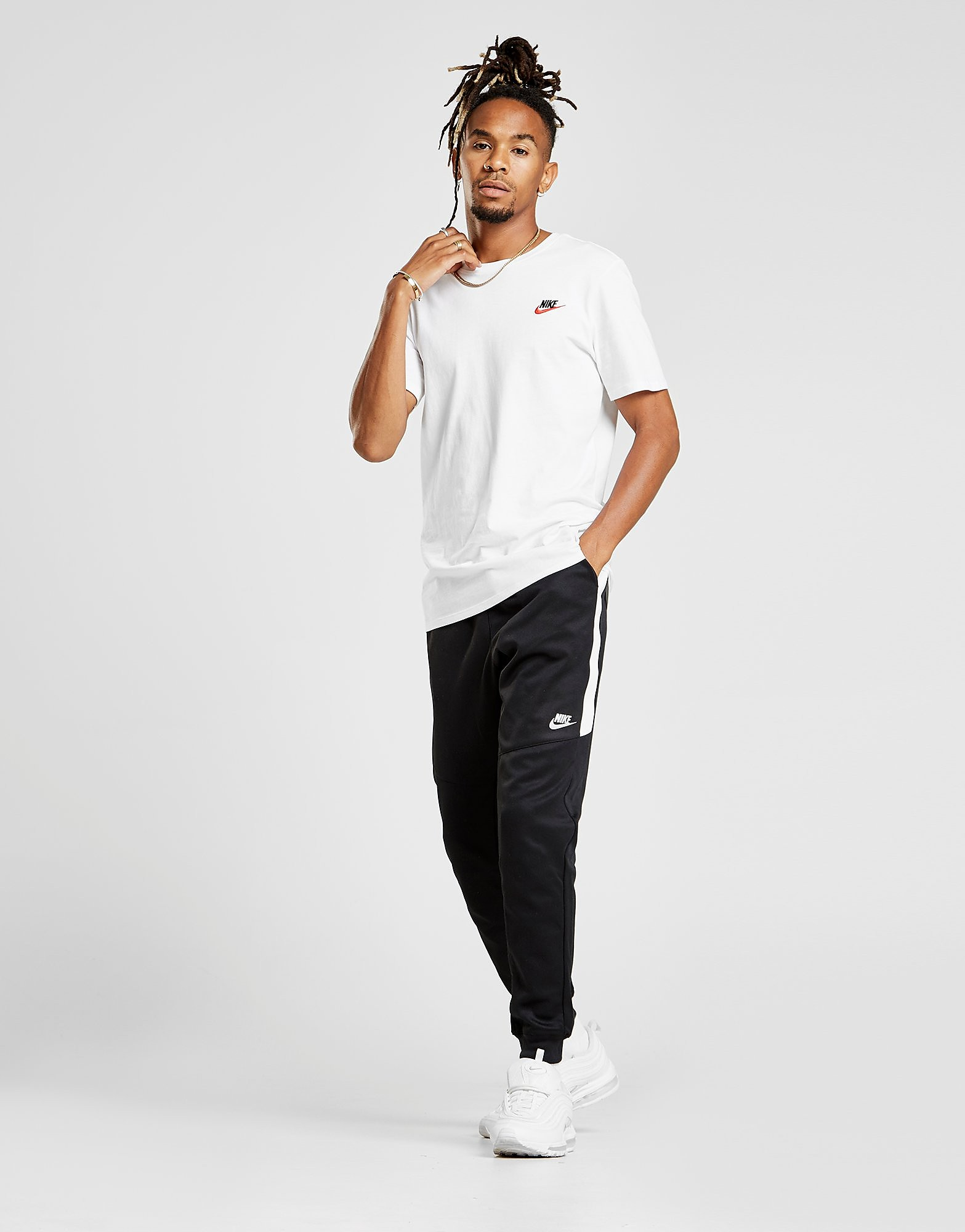 Nike Tribute DC Pants - Black/White - Mens, Black/White