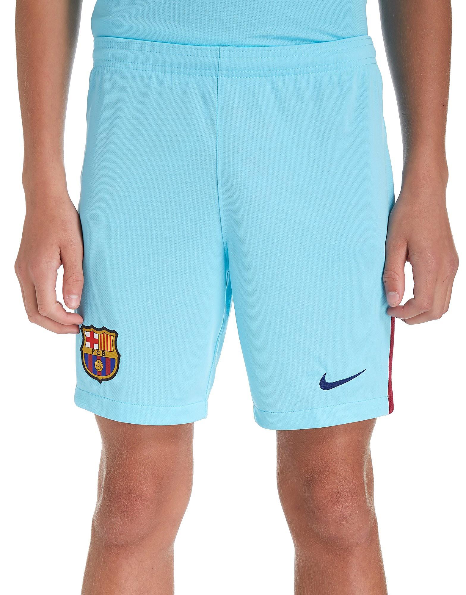 Nike Barcelona 2017/18 Away Shorts Junior - Blauw - Kind