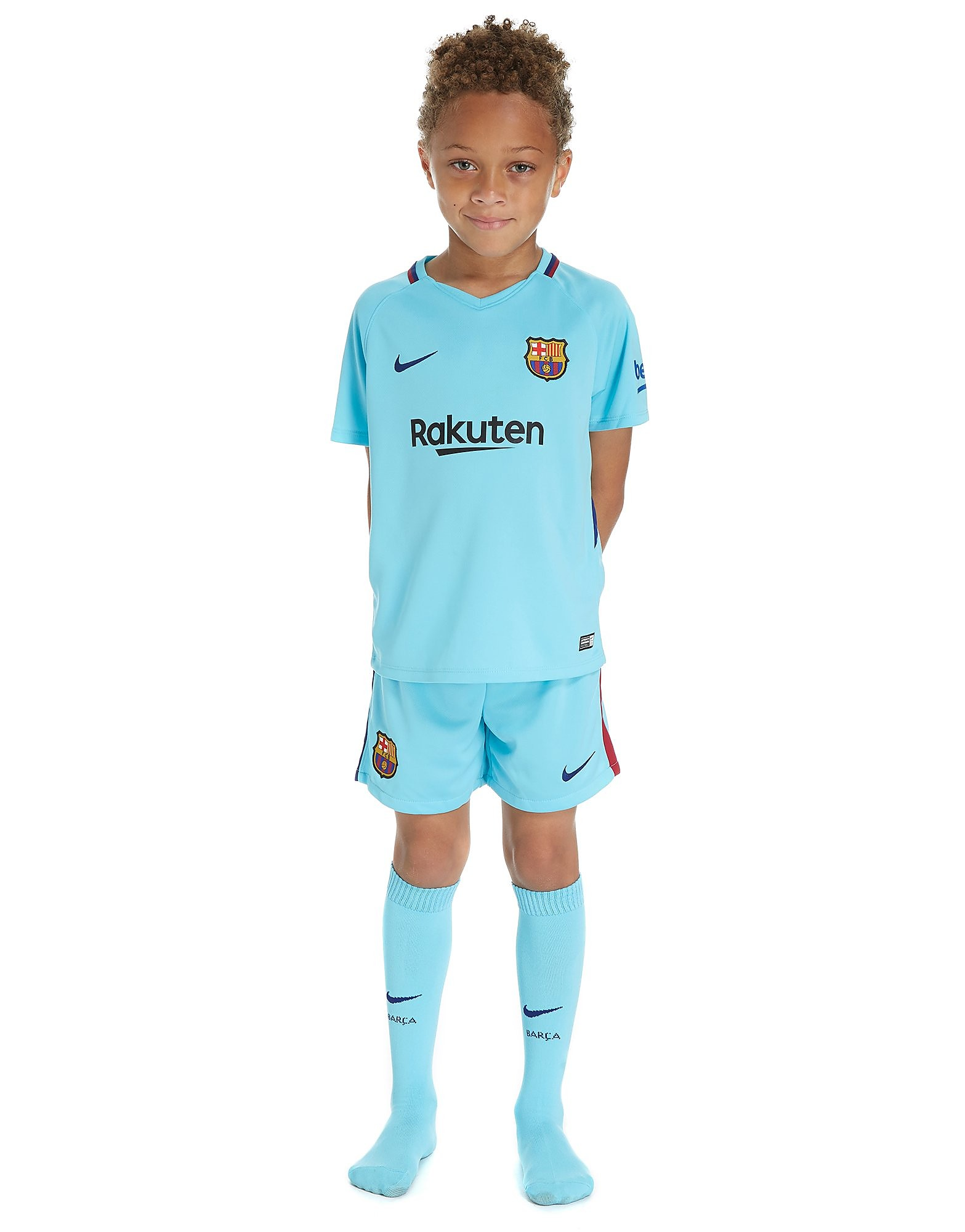 Nike Barcelona 2017/18 Away Kit Children