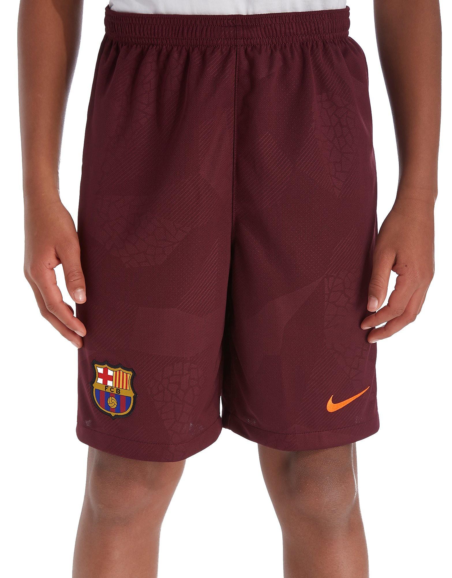 Nike FC Barcelona 2017/18 Third Shorts Junior - rouge, rouge