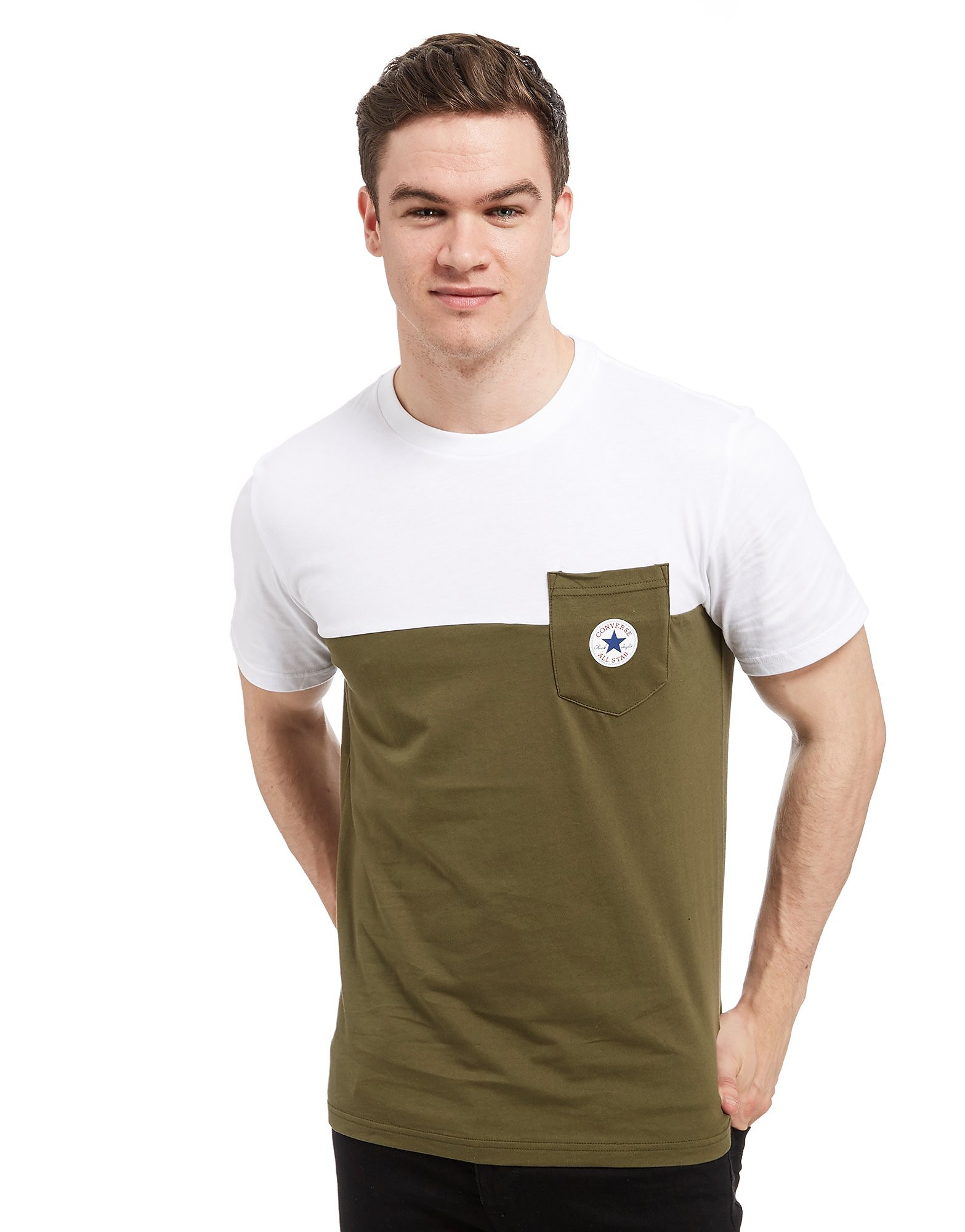 Converse Colour Block Pocket T-Shirt