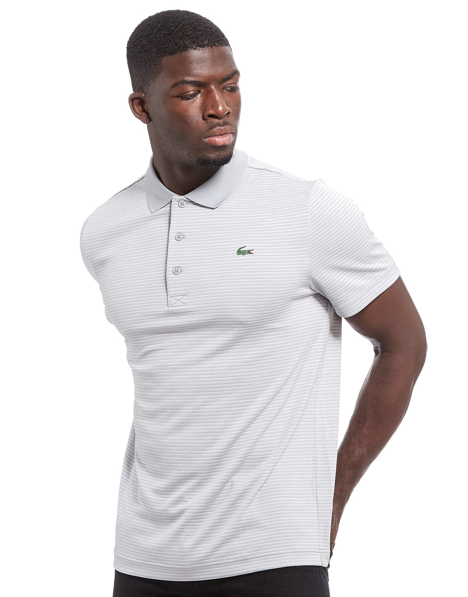 Lacoste Marl Stripe Polo Shirt