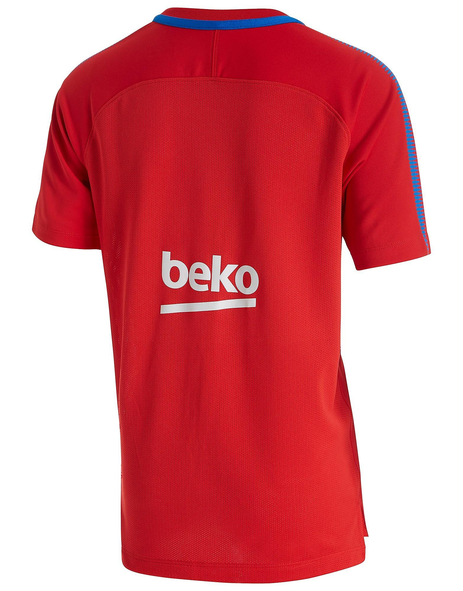 Nike camiseta FC Barcelona Squad Training júnior