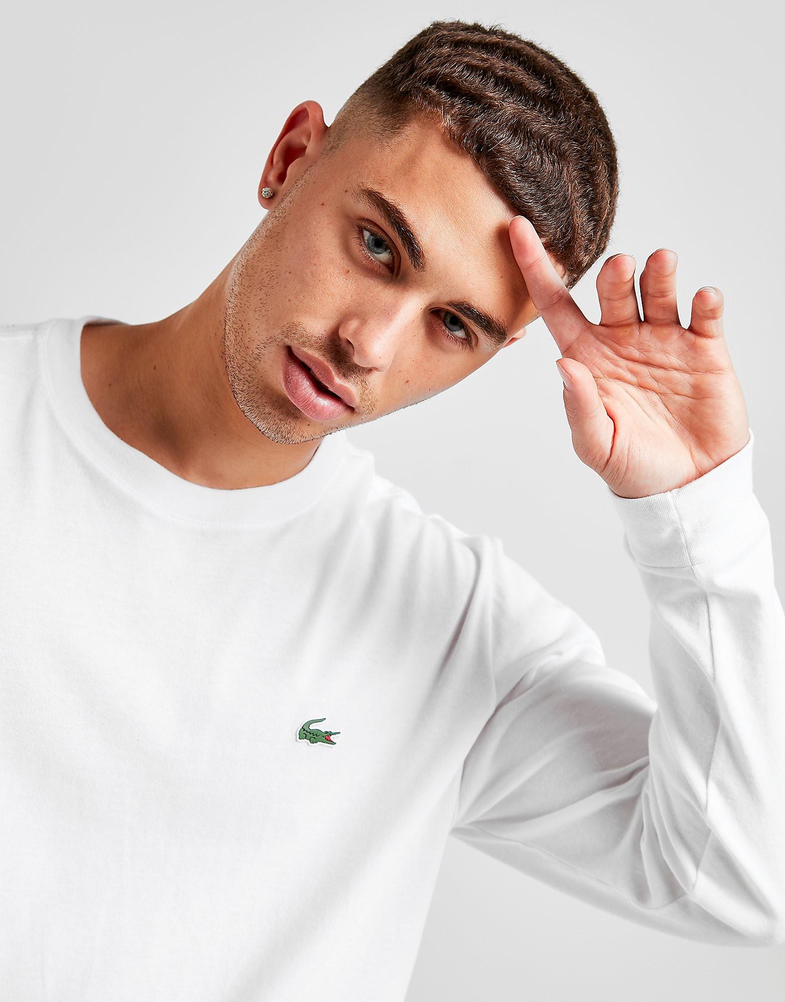 Lacoste Croc Long-Sleeved T-Shirt Heren - Wit - Heren