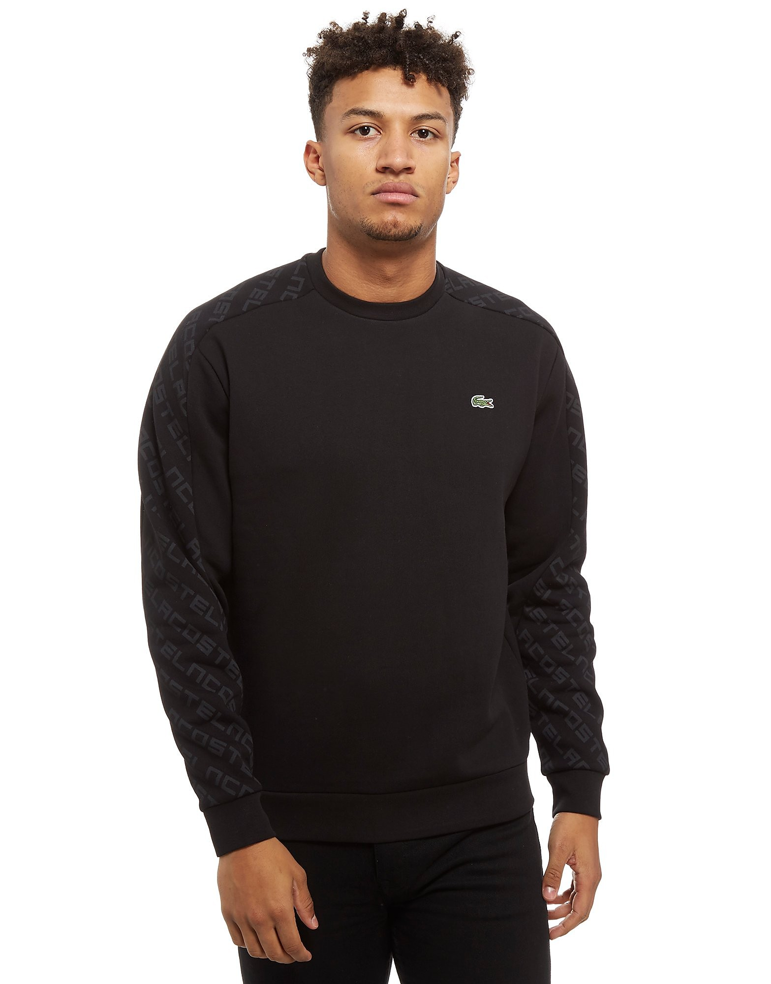 Lacoste Sleeve Print Crew Sweatshirt
