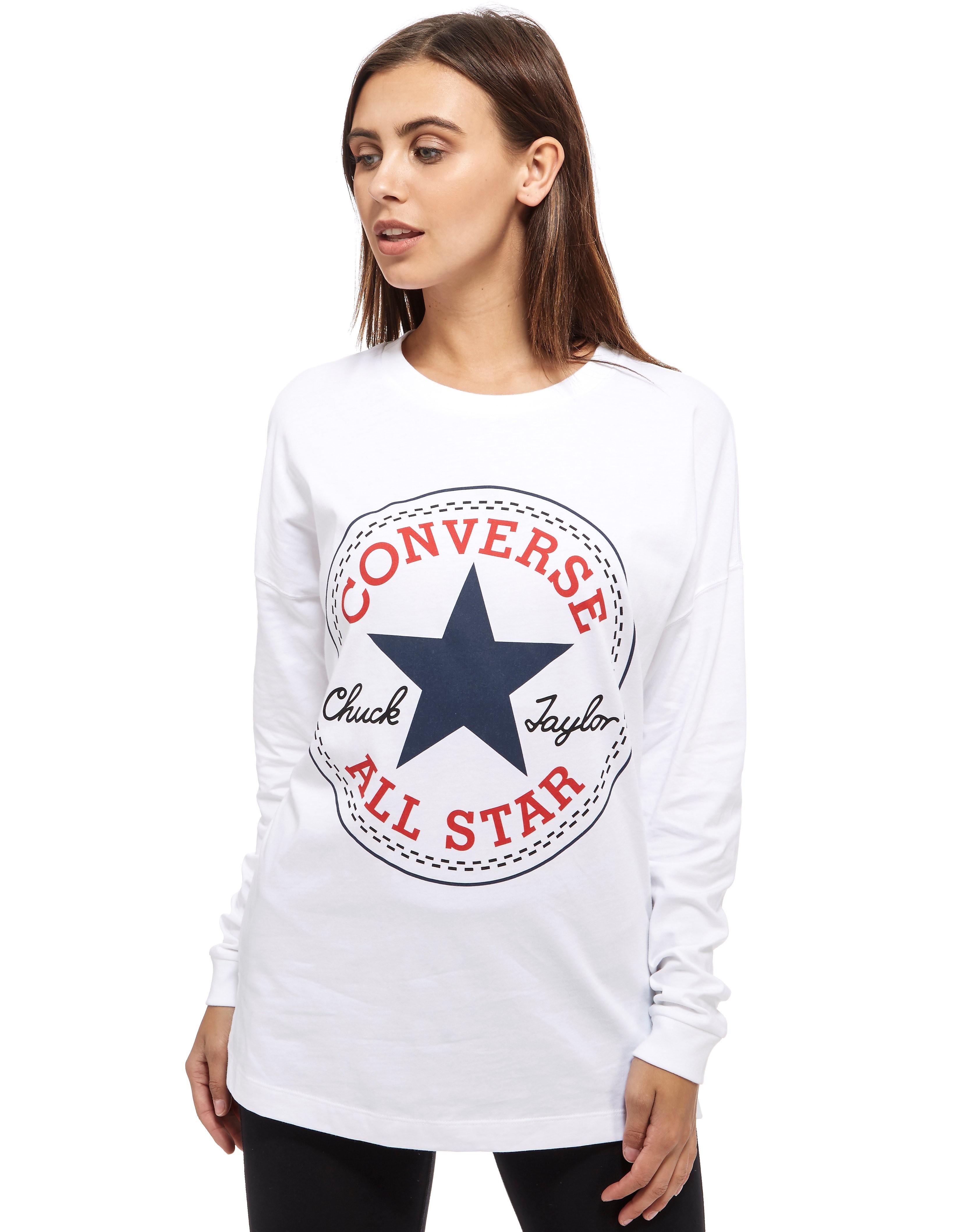 Converse Chuck Long Sleeve Logo T-Shirt - White, White