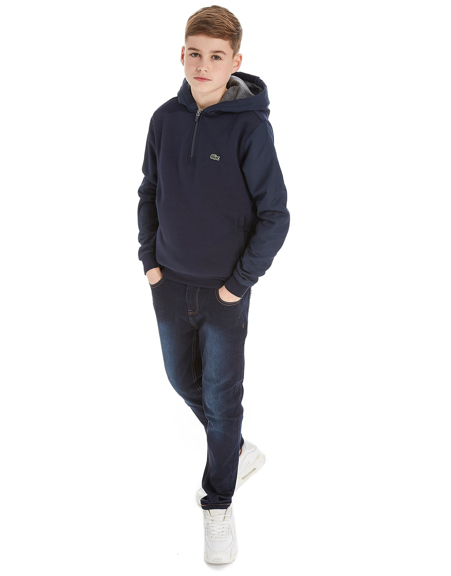 Lacoste 1/2 Zip Fleece Hoodie Junior