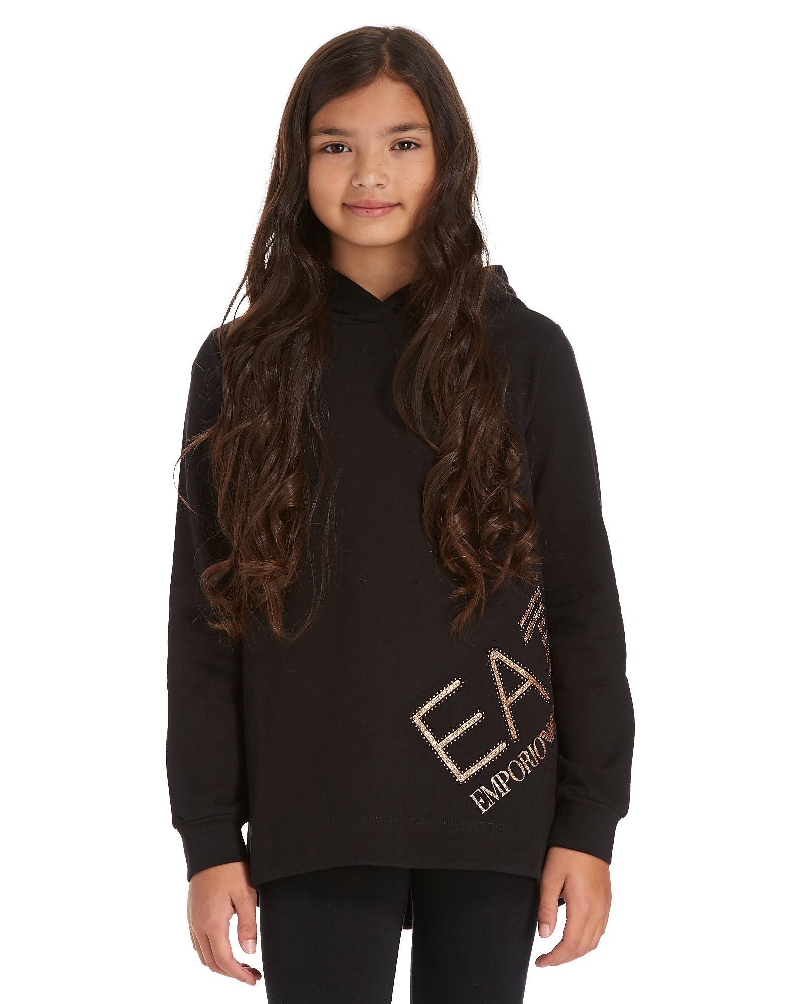 Emporio Armani EA7 Girls' Longline Hoodie Junior