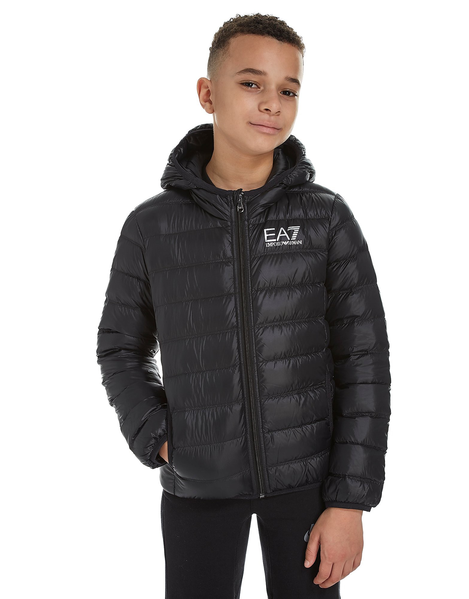 Emporio Armani EA7 Core Down Jacket Junior - BLK/BLK - Kind