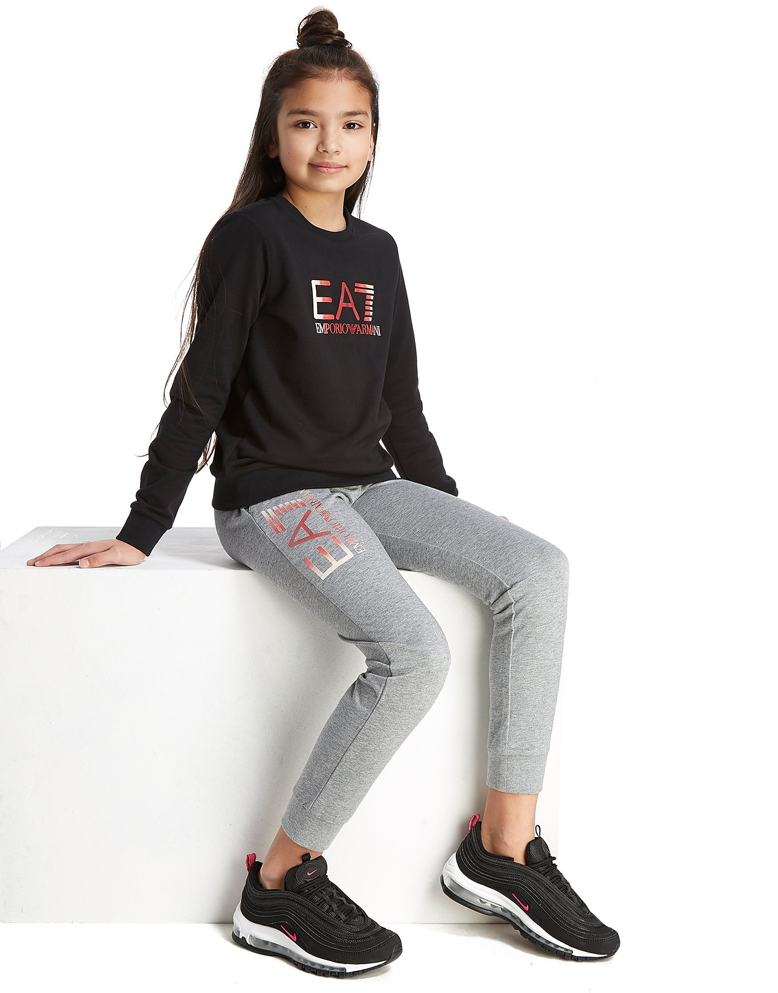 Emporio Armani EA7 Girls' Crew Tracksuit Junior