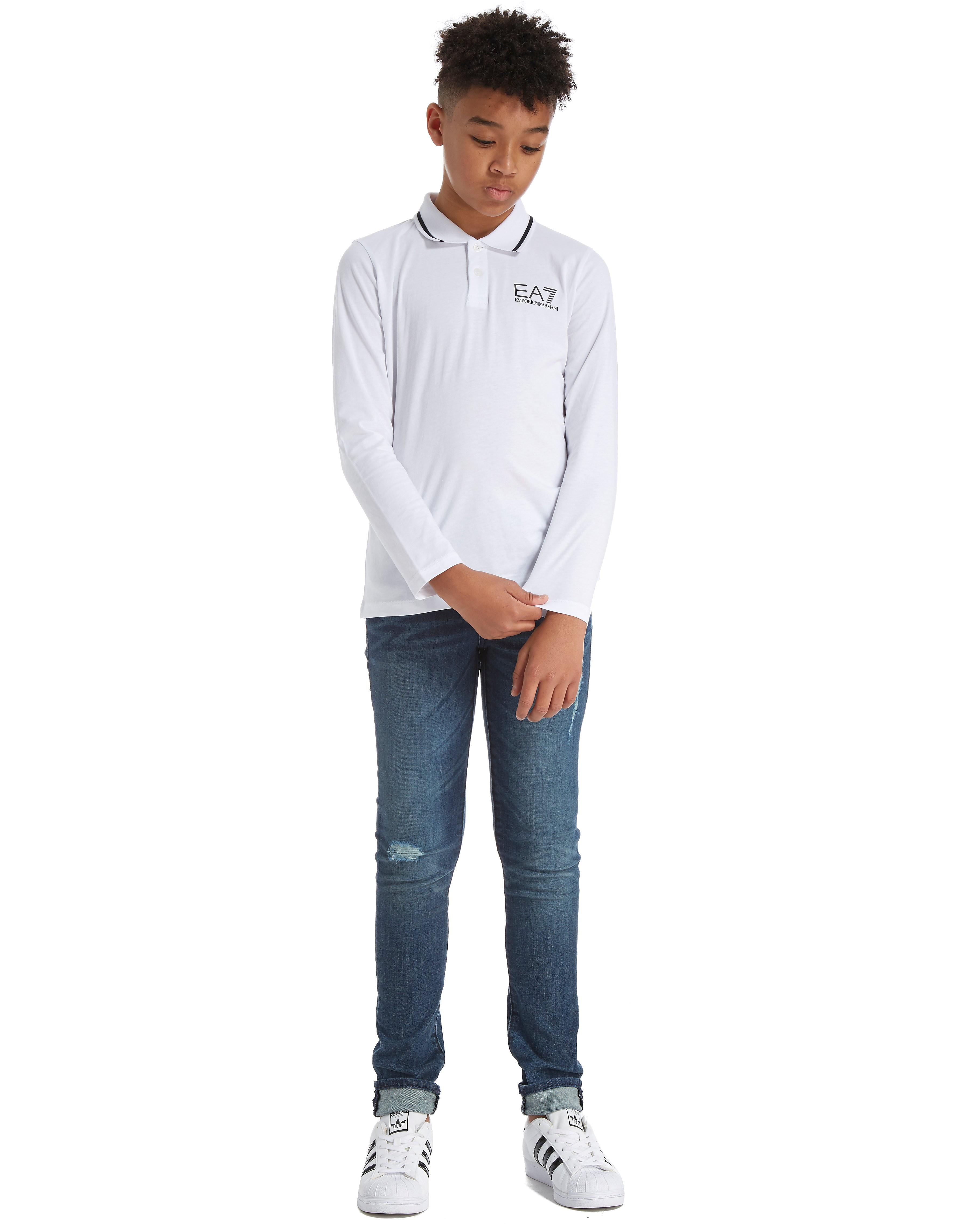 Emporio Armani EA7 Long Sleeve Jersey Polo Shirt Junior