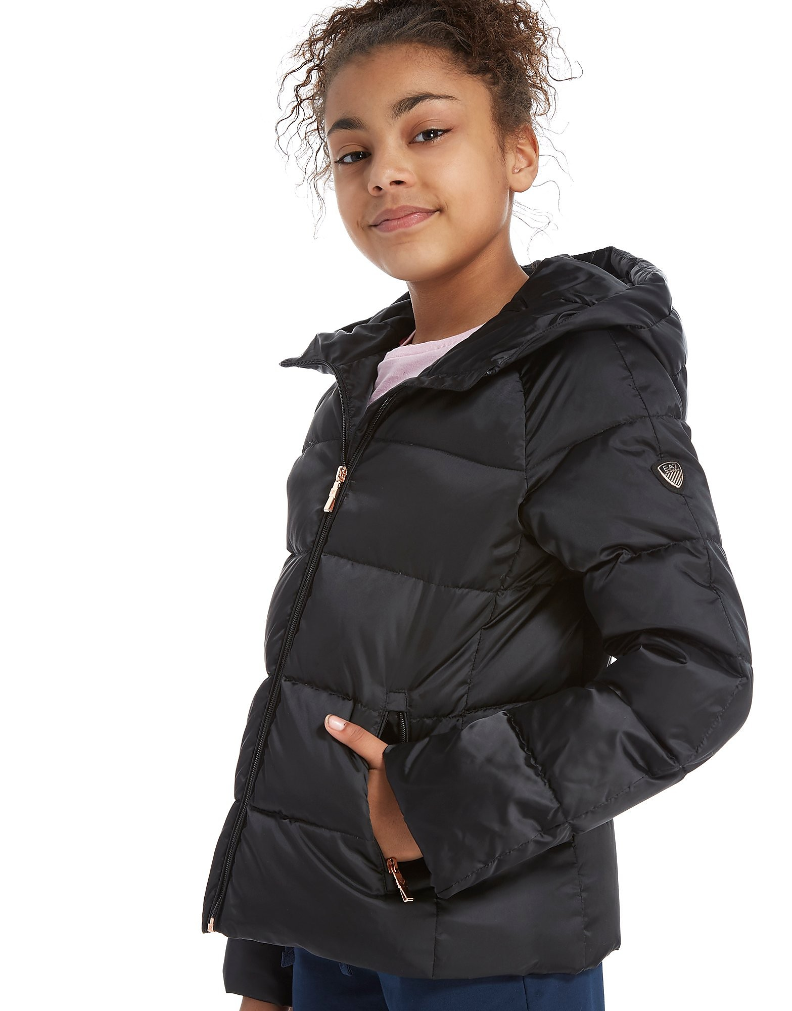 Emporio Armani EA7 Girls' Shiny Down Jacket Junior