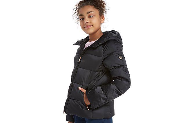 6fa436cf8 Emporio Armani EA7 Girls  Shiny Down Jacket Junior - Black - Kids ...