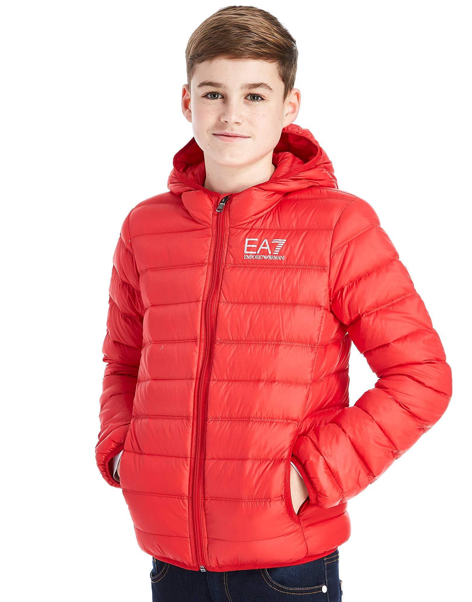 Emporio Armani EA7 Core Down Jacket Junior - Red, Red