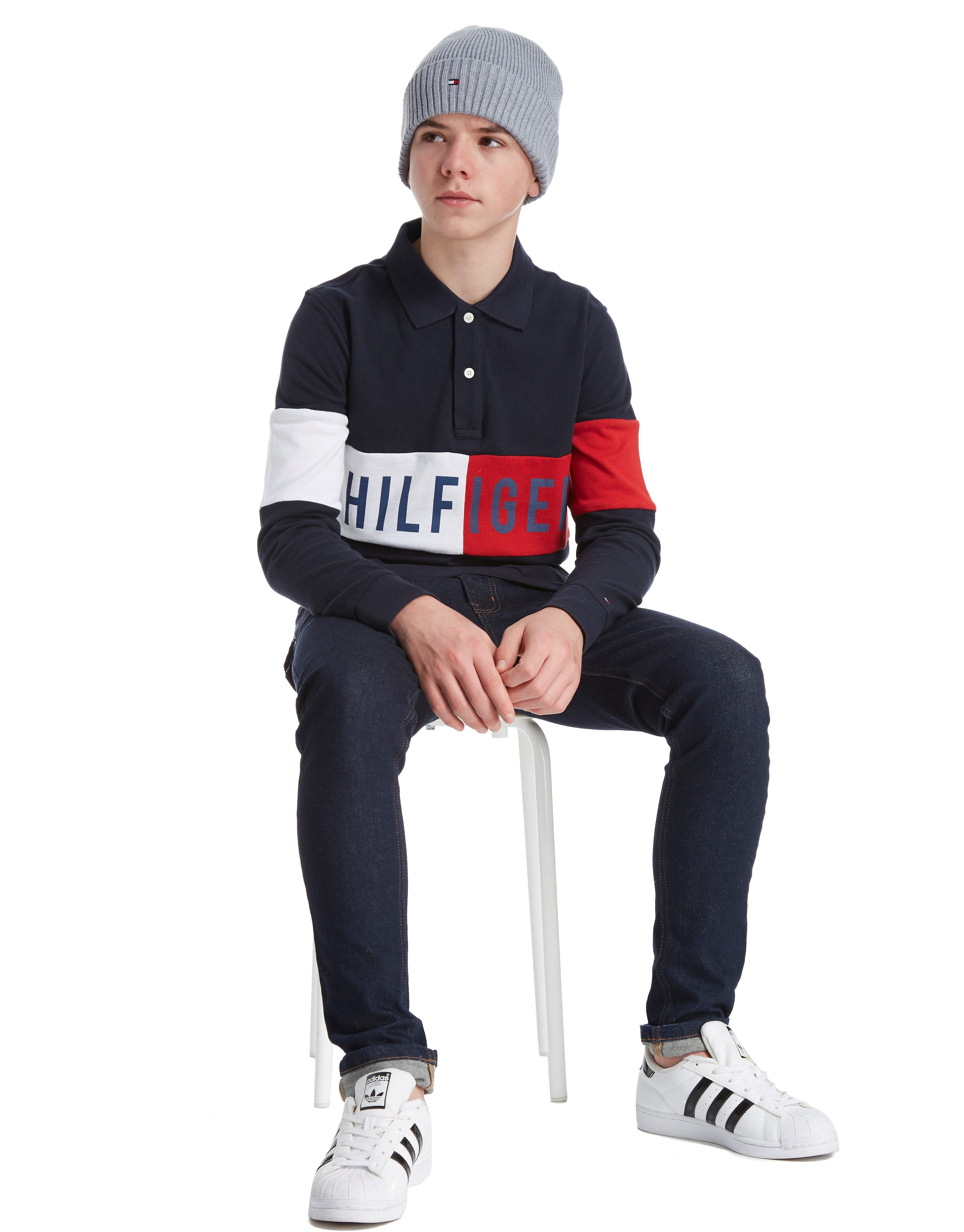 Tommy Hilfiger Colourblock Long Sleeve Polo Shirt Junior