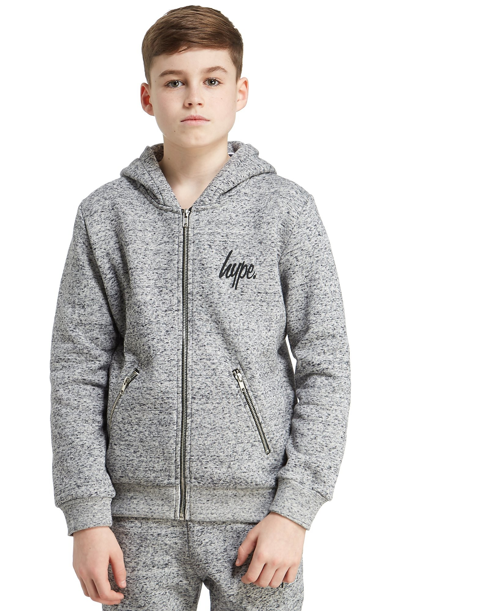 Hype Zip Pocket Hoodie Junior