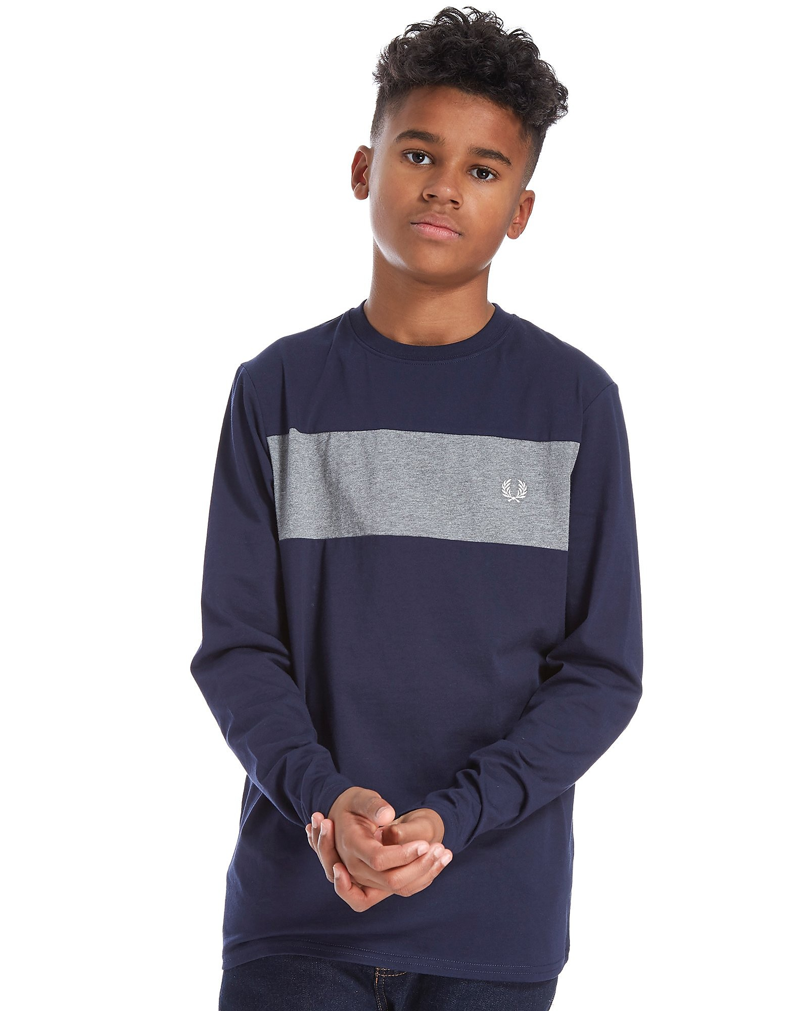 Fred Perry Long Sleeve Panel T-Shirt Junior