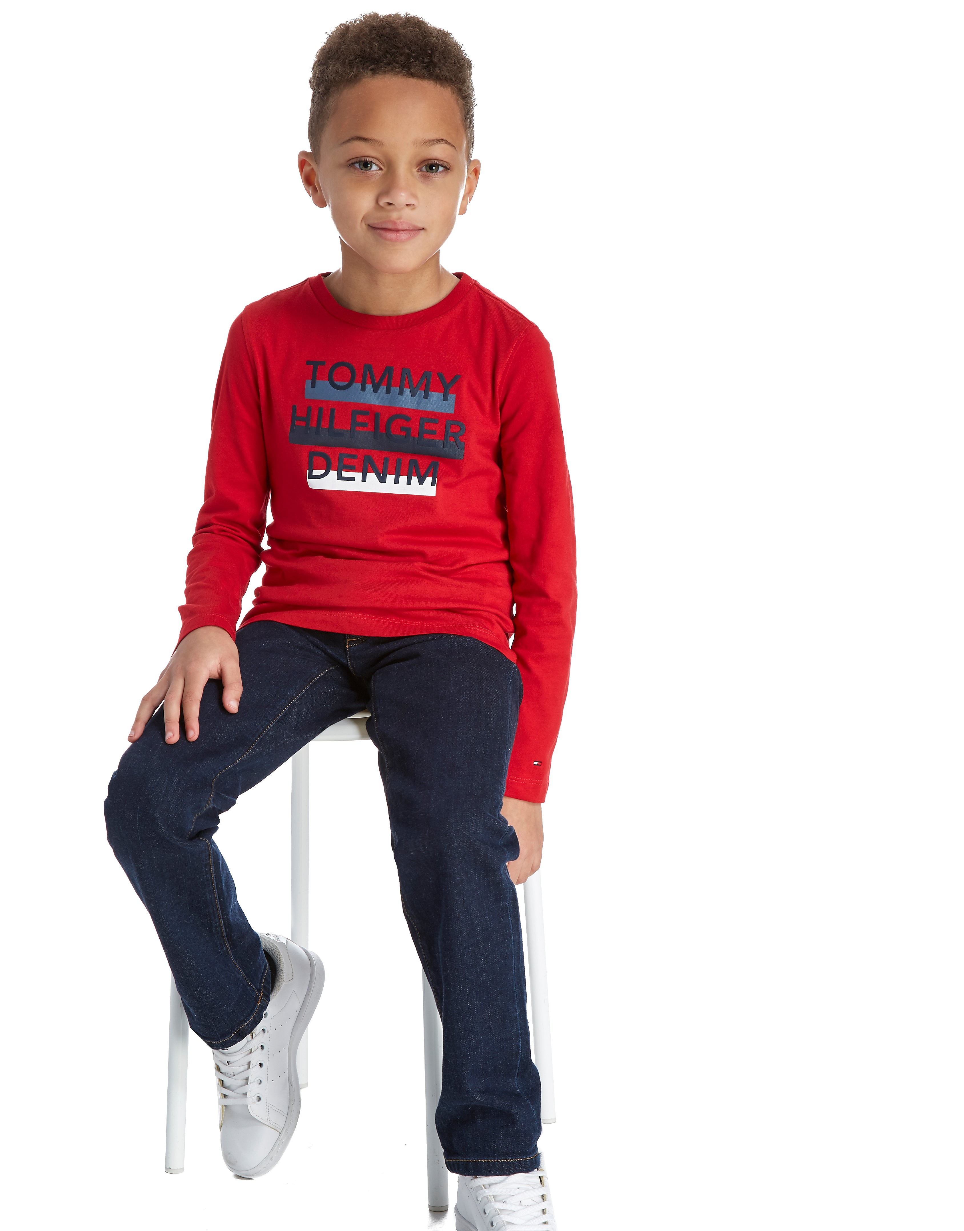 Tommy Hilfiger Long Sleeve Flag T-Shirt Children