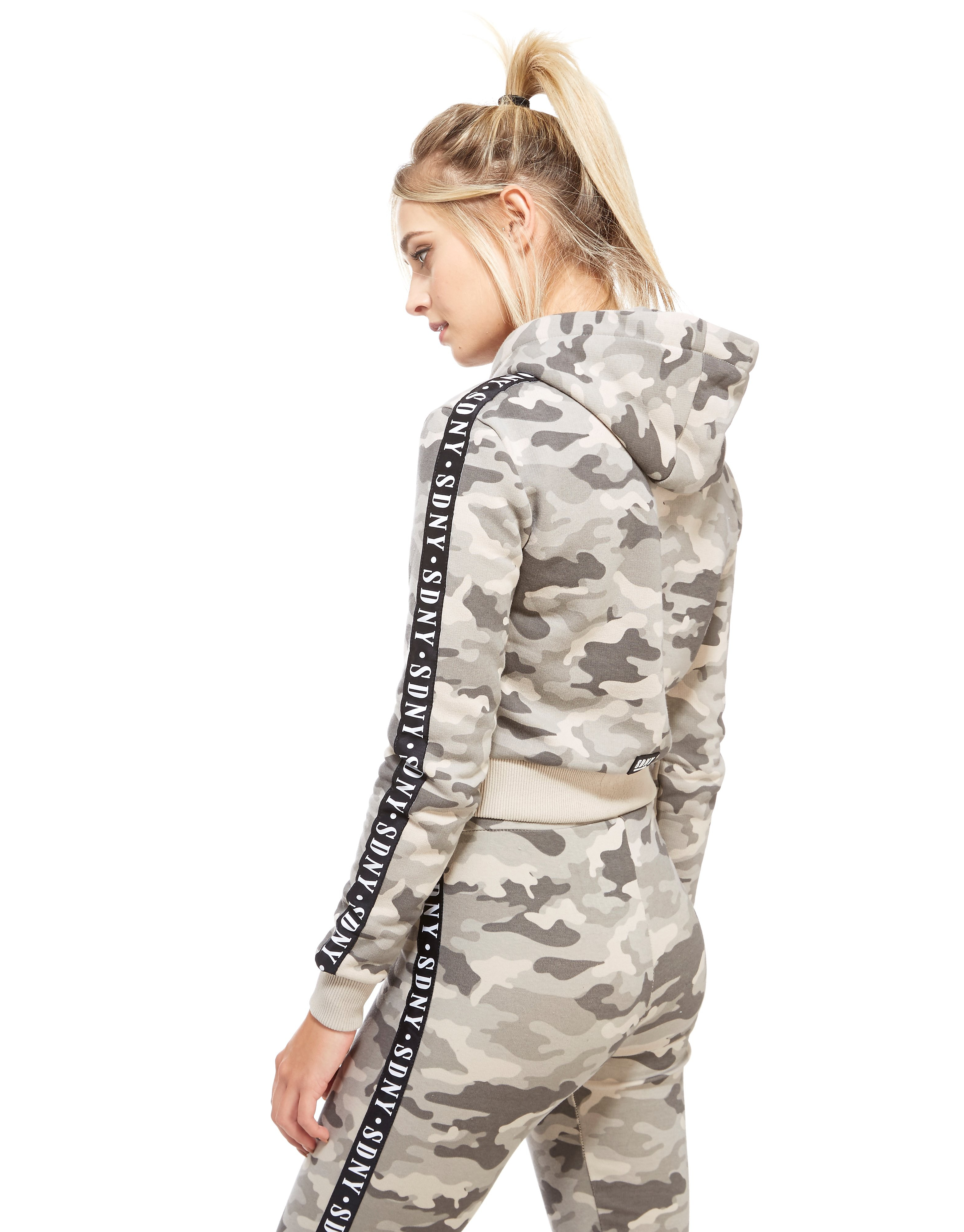 Supply & Demand Camo Crop Hoody