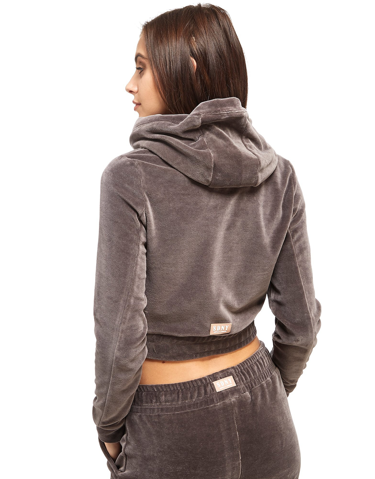 Supply & Demand Velour Crop Hoody