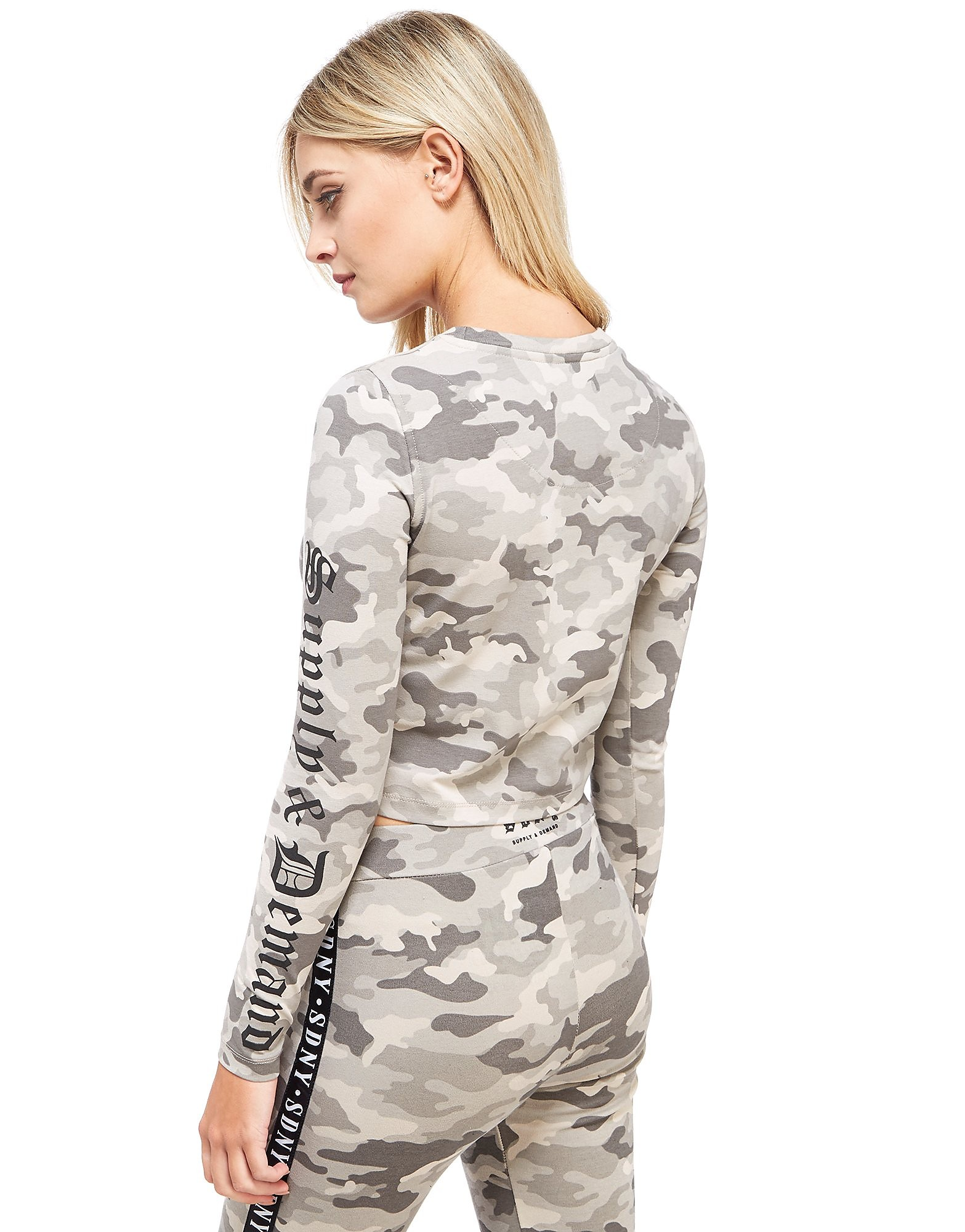 Supply & Demand Camo Crop Longsleeve Top