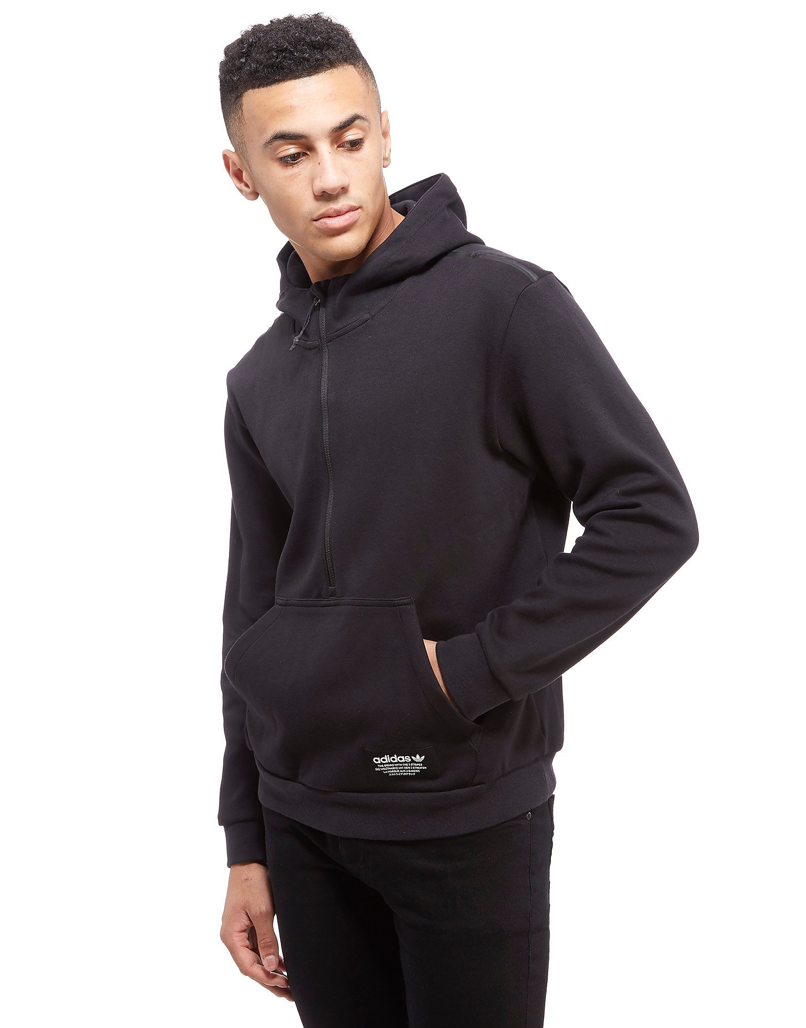 adidas Originals Half Zip Fleece Hoody