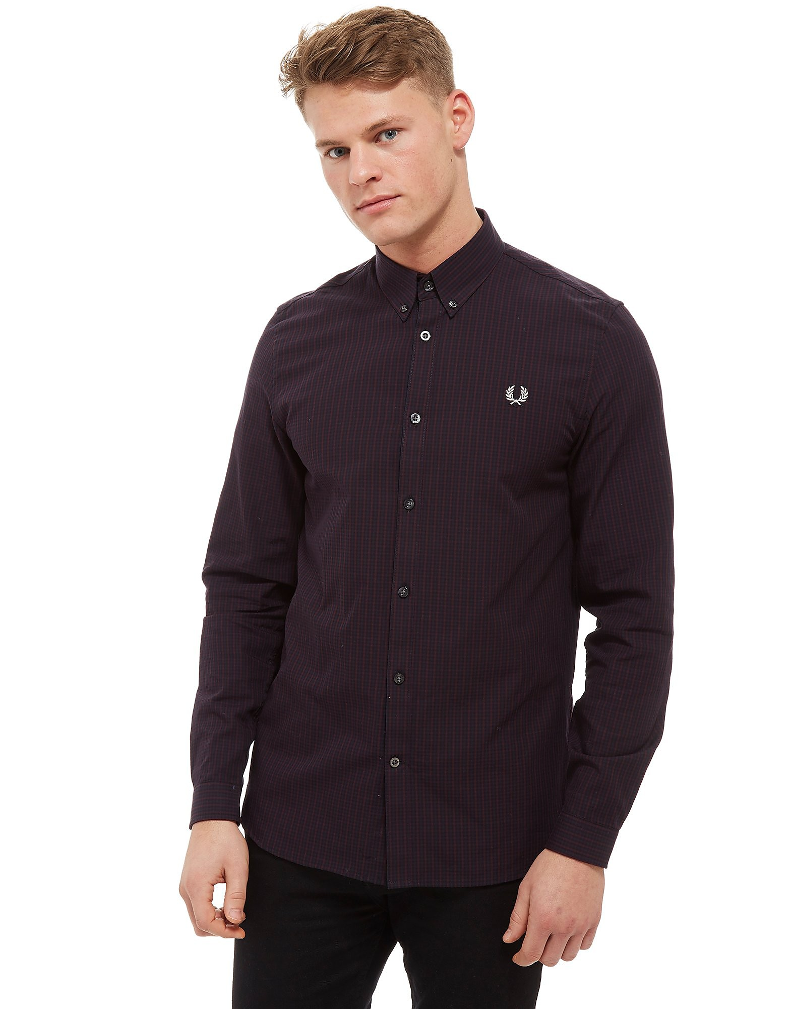 Fred Perry Tri-Colour Micro Check Long Sleeve Shirt
