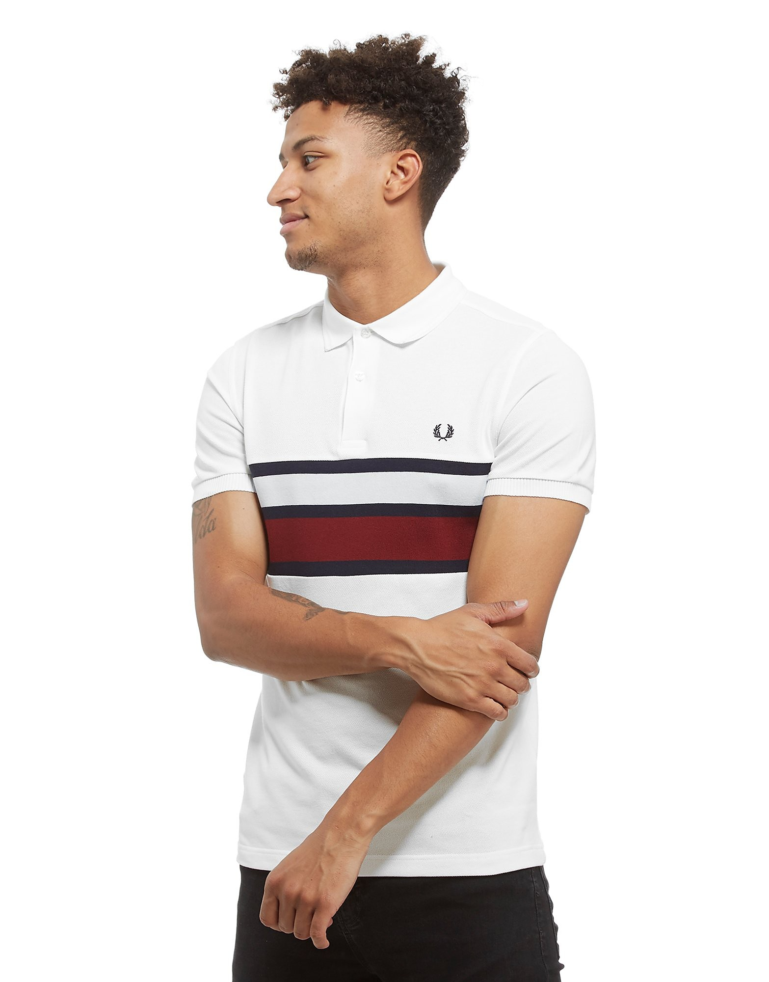 Fred Perry Stripe Panel Short Sleeve Polo Shirt