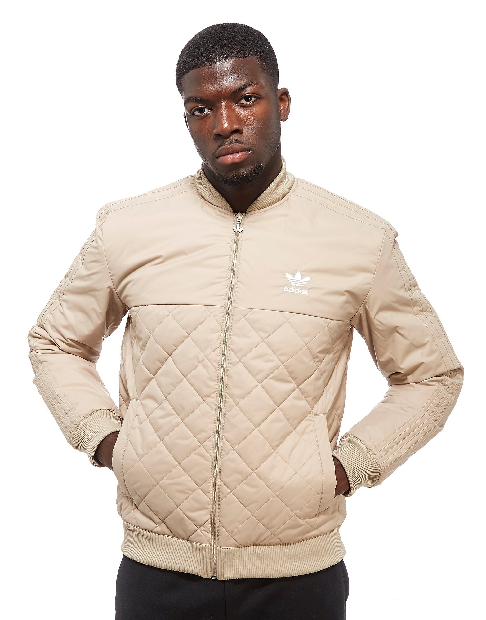 adidas Originals Trefoil Quilted Bomber Jacket