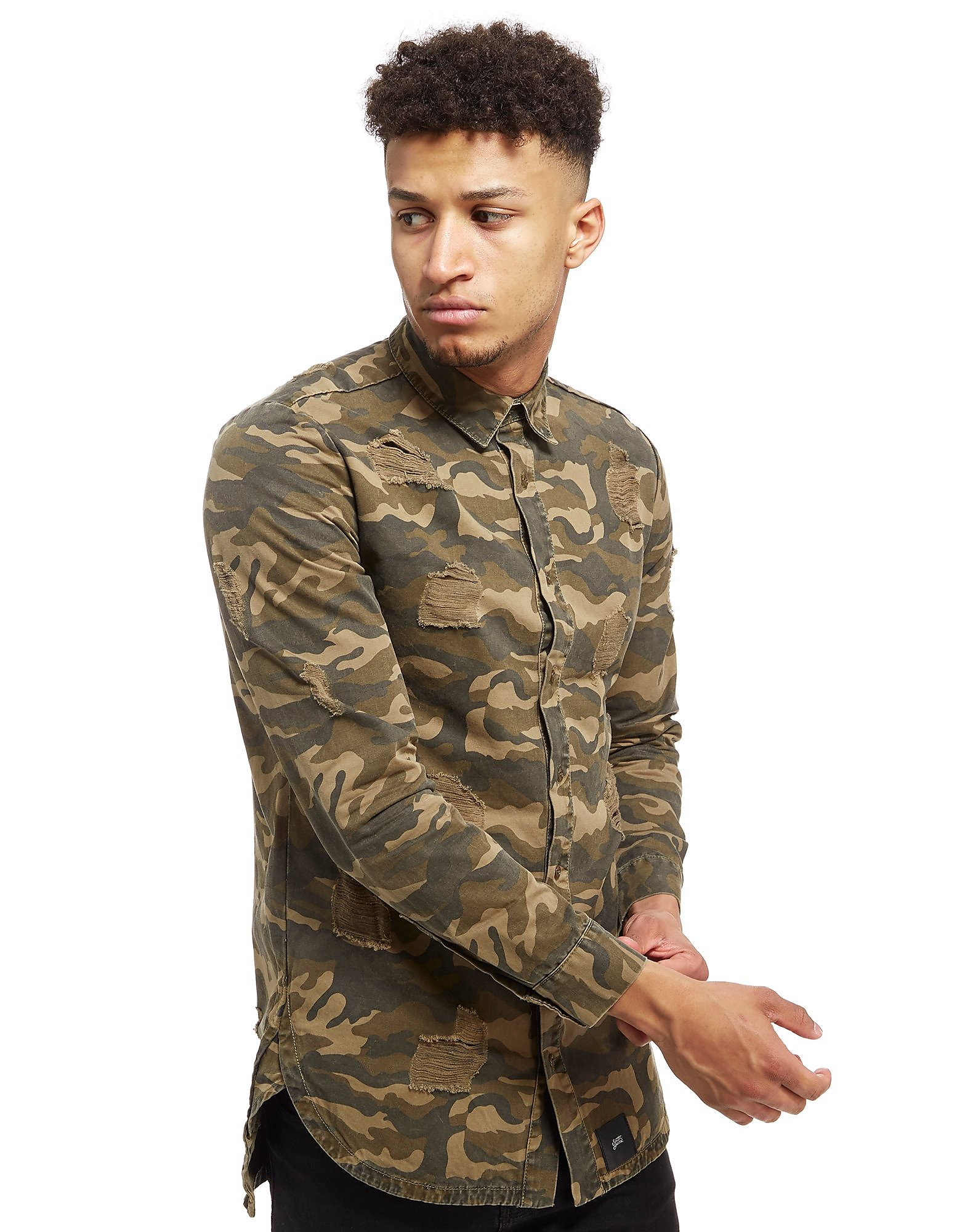Sixth June Ripped Camo Shirt