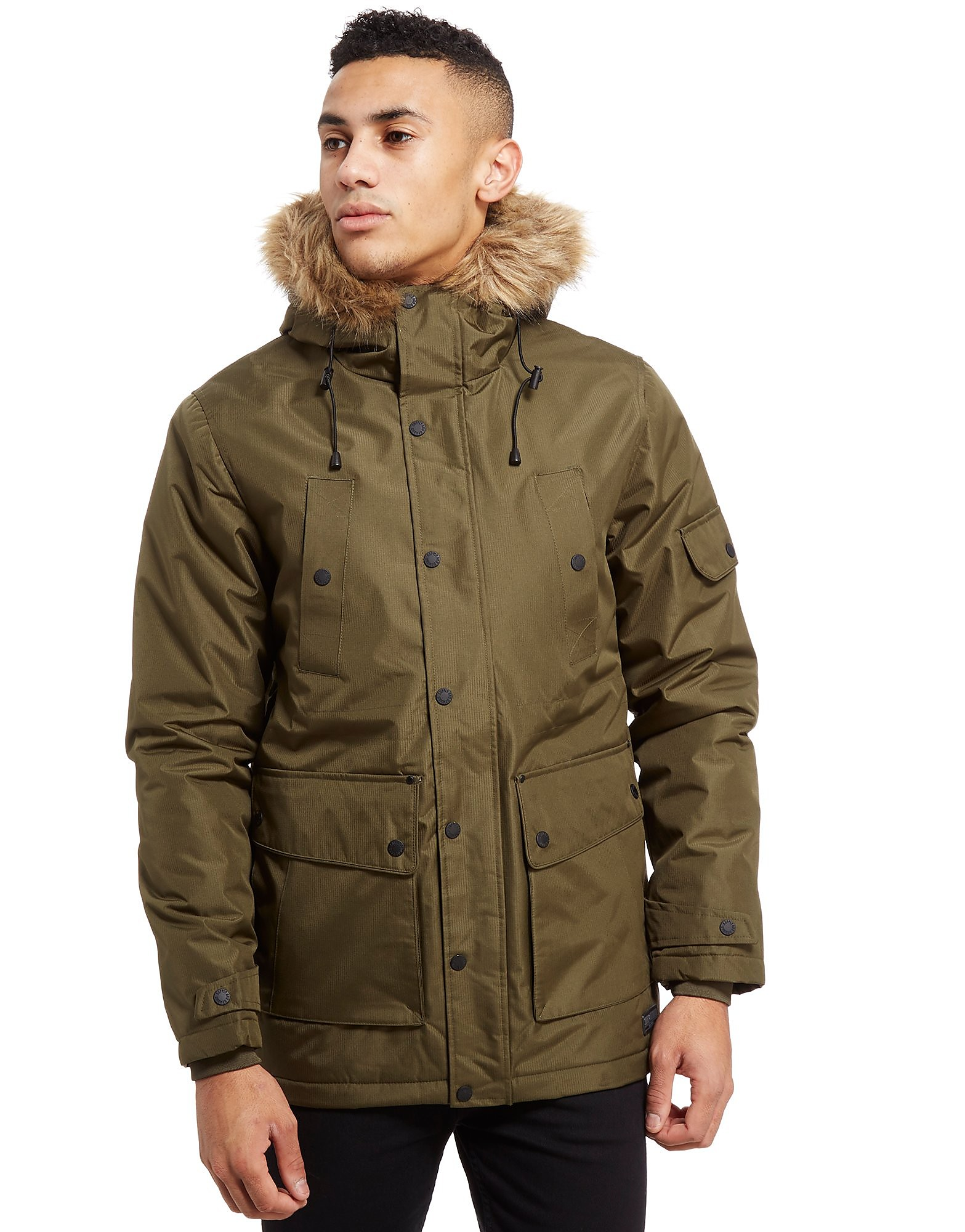 Supply & Demand Zeus Parka Jacket - Only at JD, Khaki