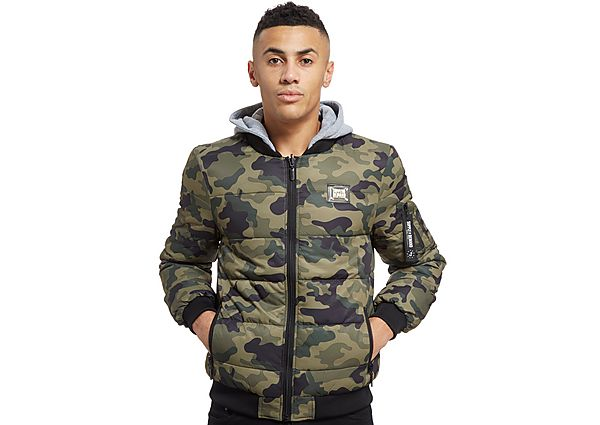 Supply & Demand Percy Reversible Bomber Jacket - Only at JD, Camo/Black