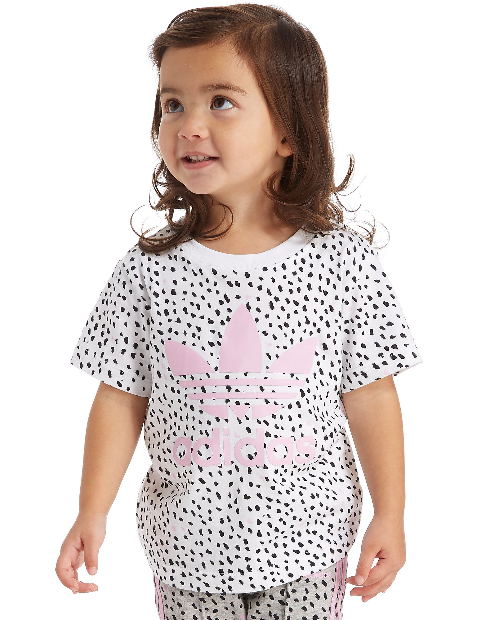 "adidas Originals Girls Zebra ""Spots"" T-Shirt Infant"