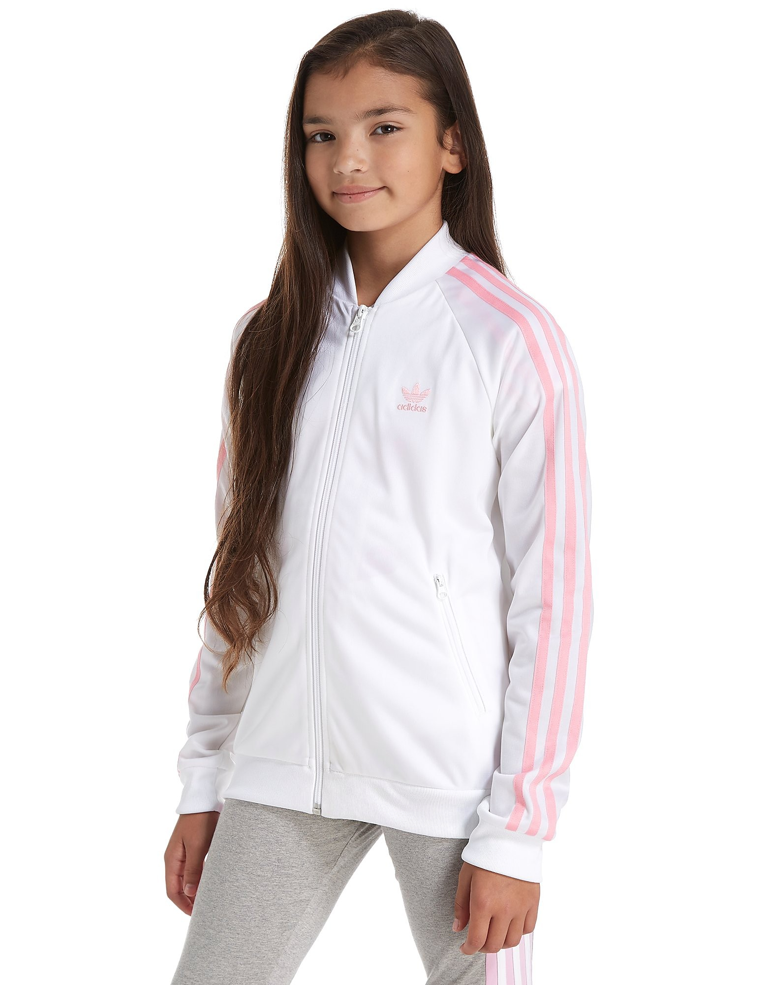 adidas Originals Girls Superstar Track Top Junior