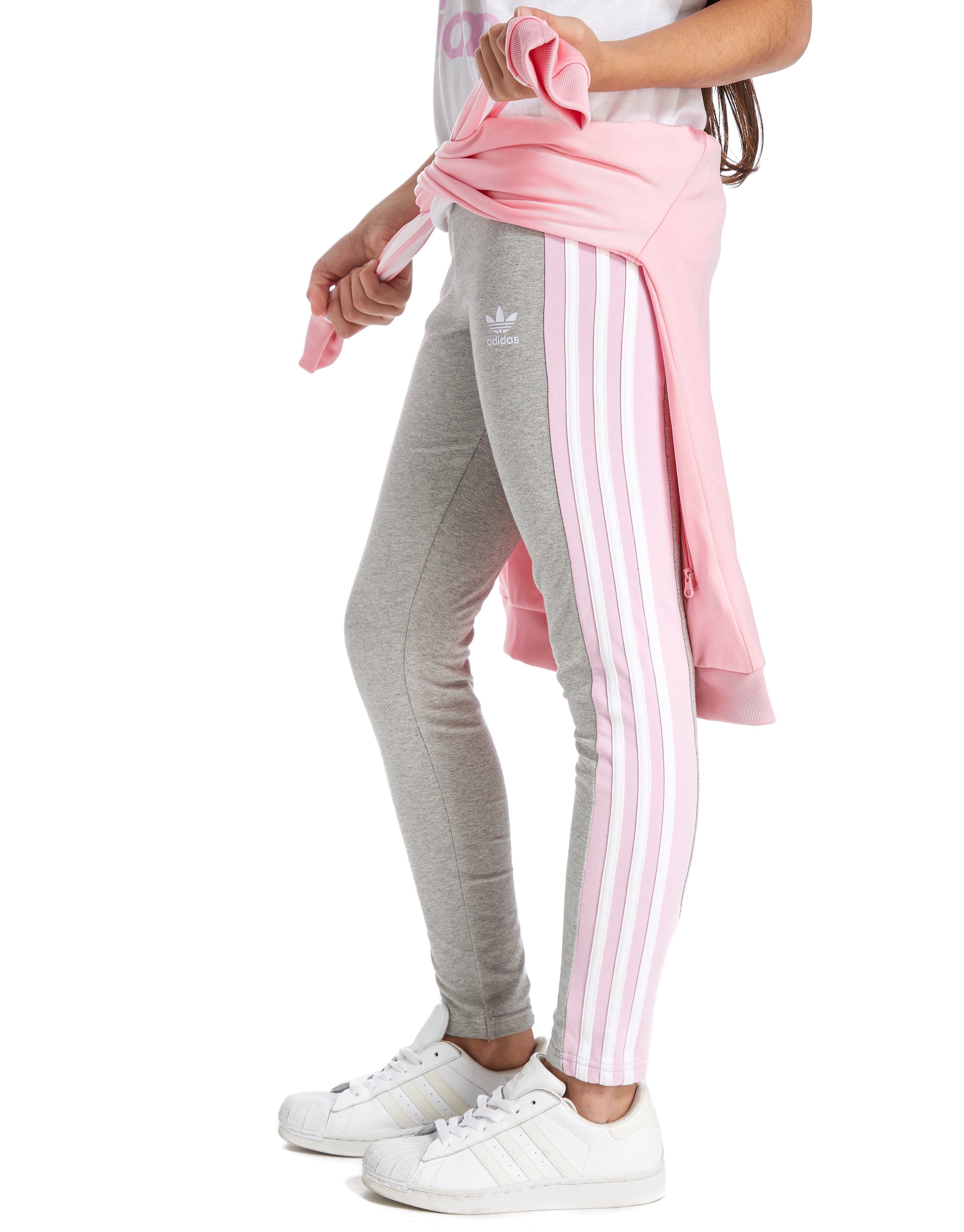 adidas Originals Girls' Originals 3-Stripe Leggings Junior