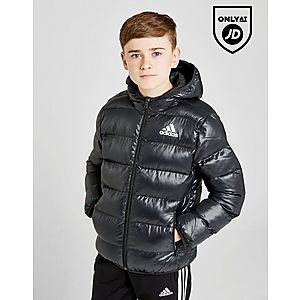 adidas Hooded Bomber Jacket Junior ... 02bf840e0