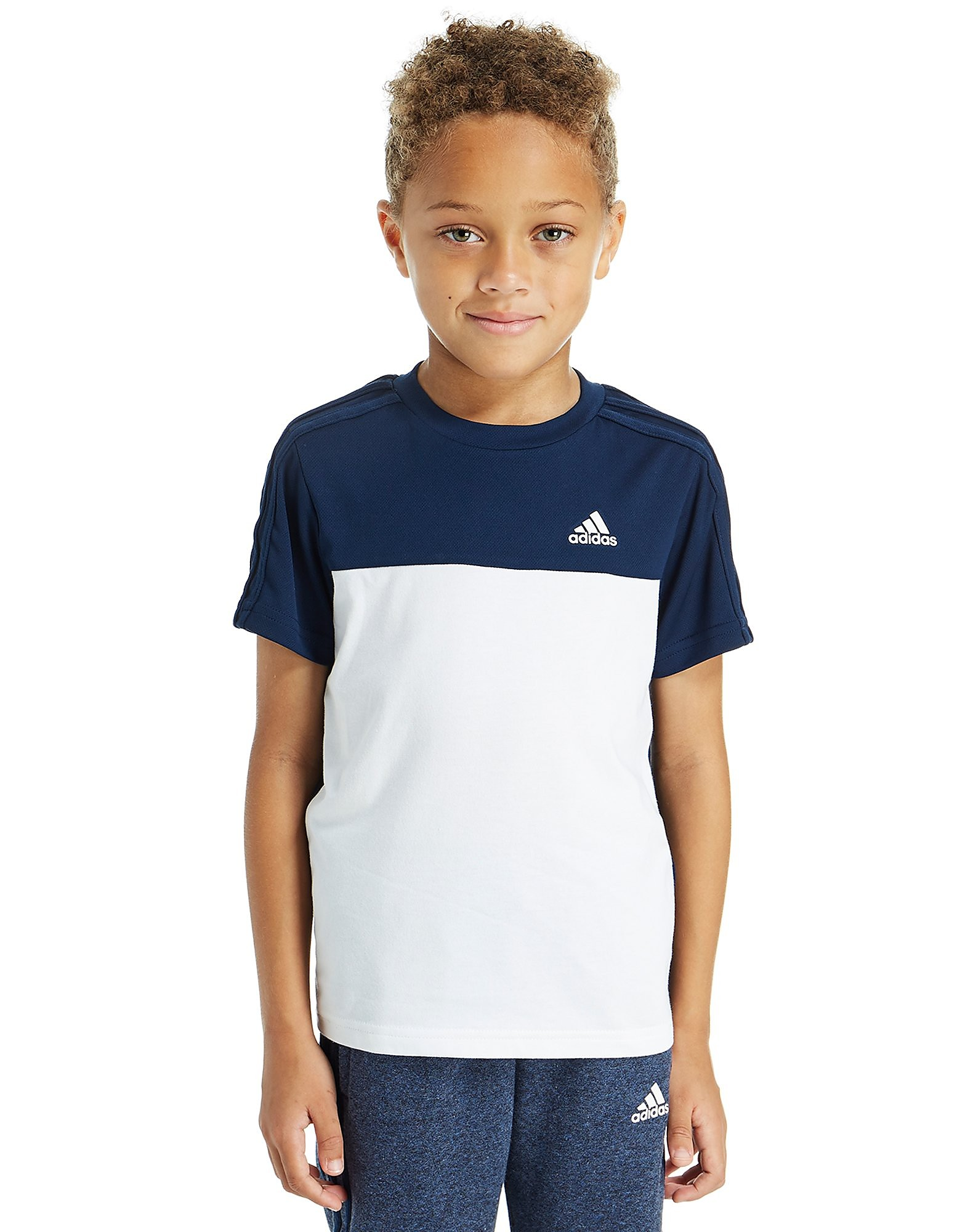 Image de adidas Hybird T-Shirt Enfant - Only at JD - White/Navy, White/Navy