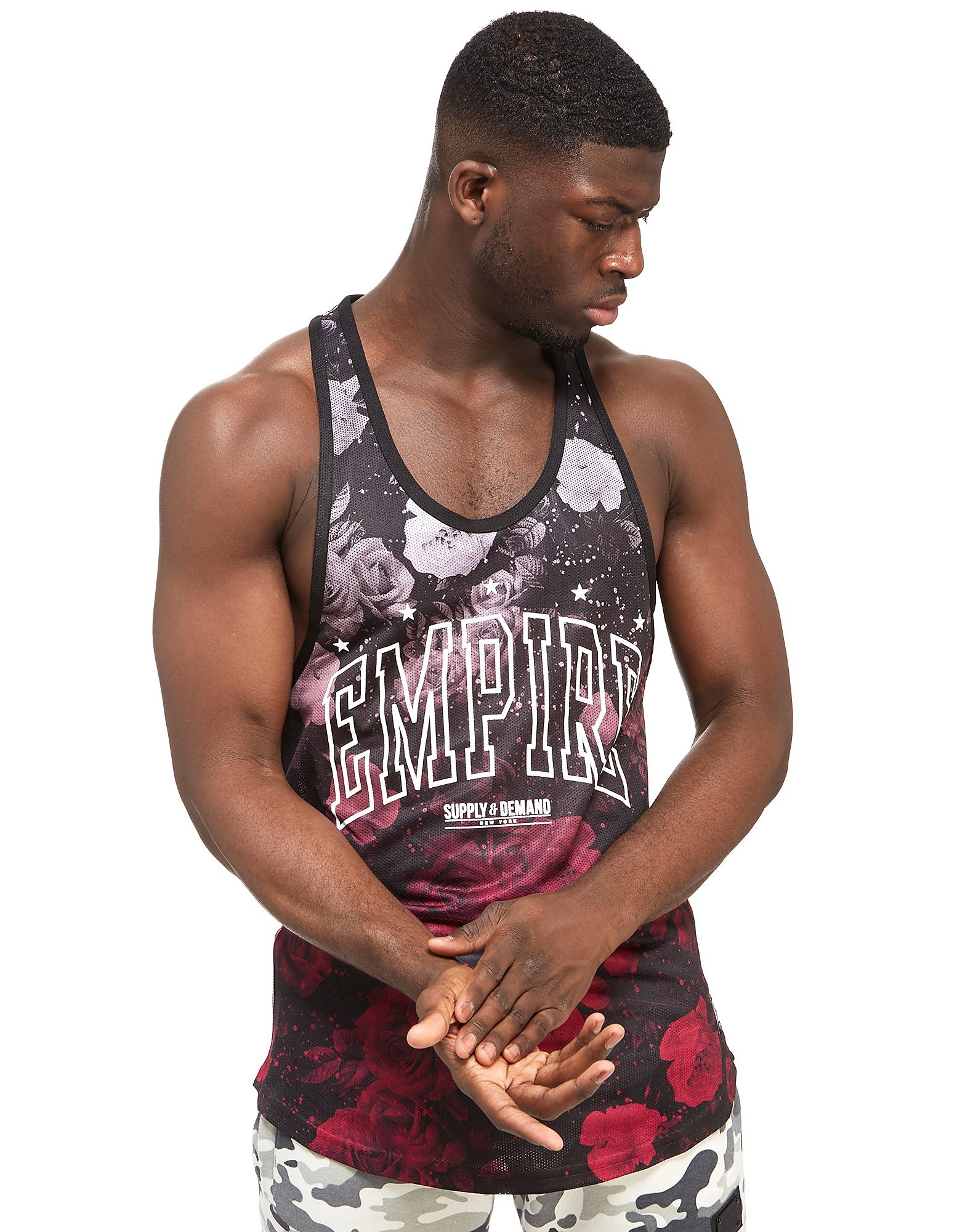Supply & Demand Burgundy Rose Fade Vest