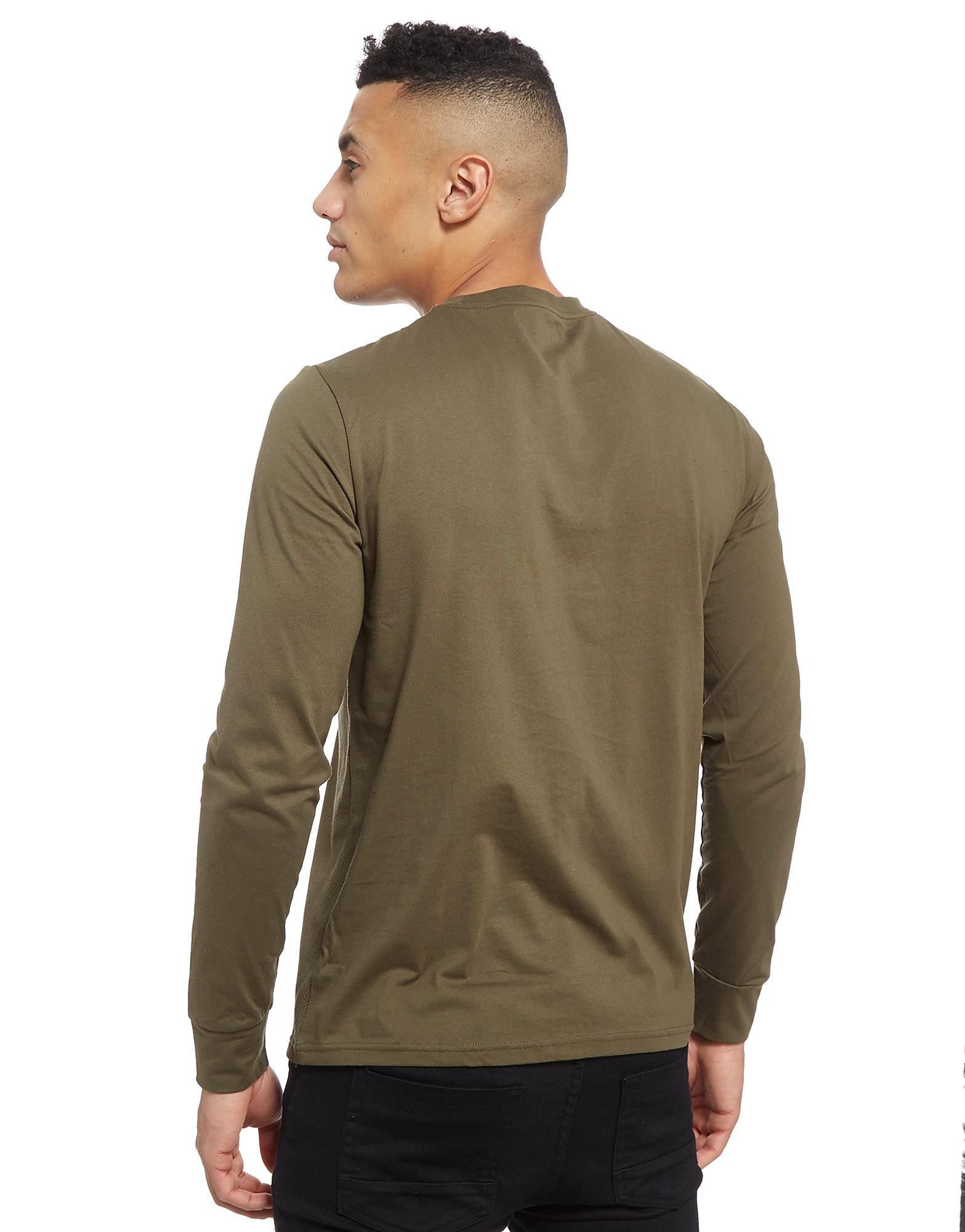 Fred Perry Textured Oxford Long Sleeve T-Shirt