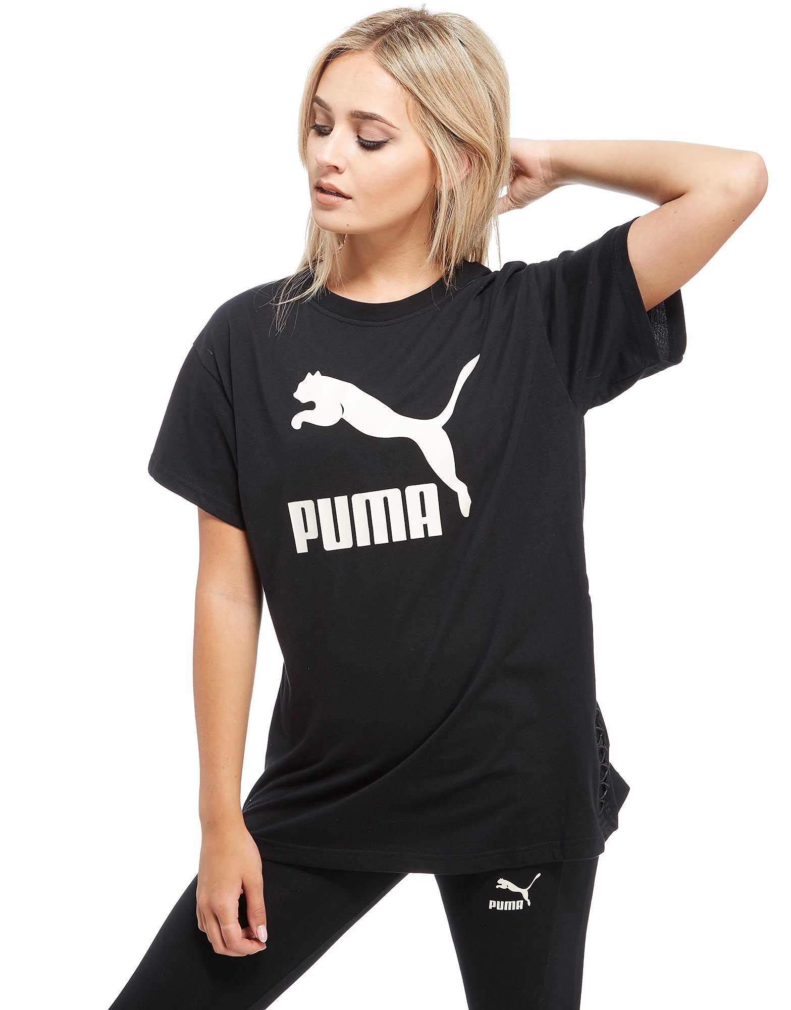 PUMA Lace Up Boyfriend T-Shirt