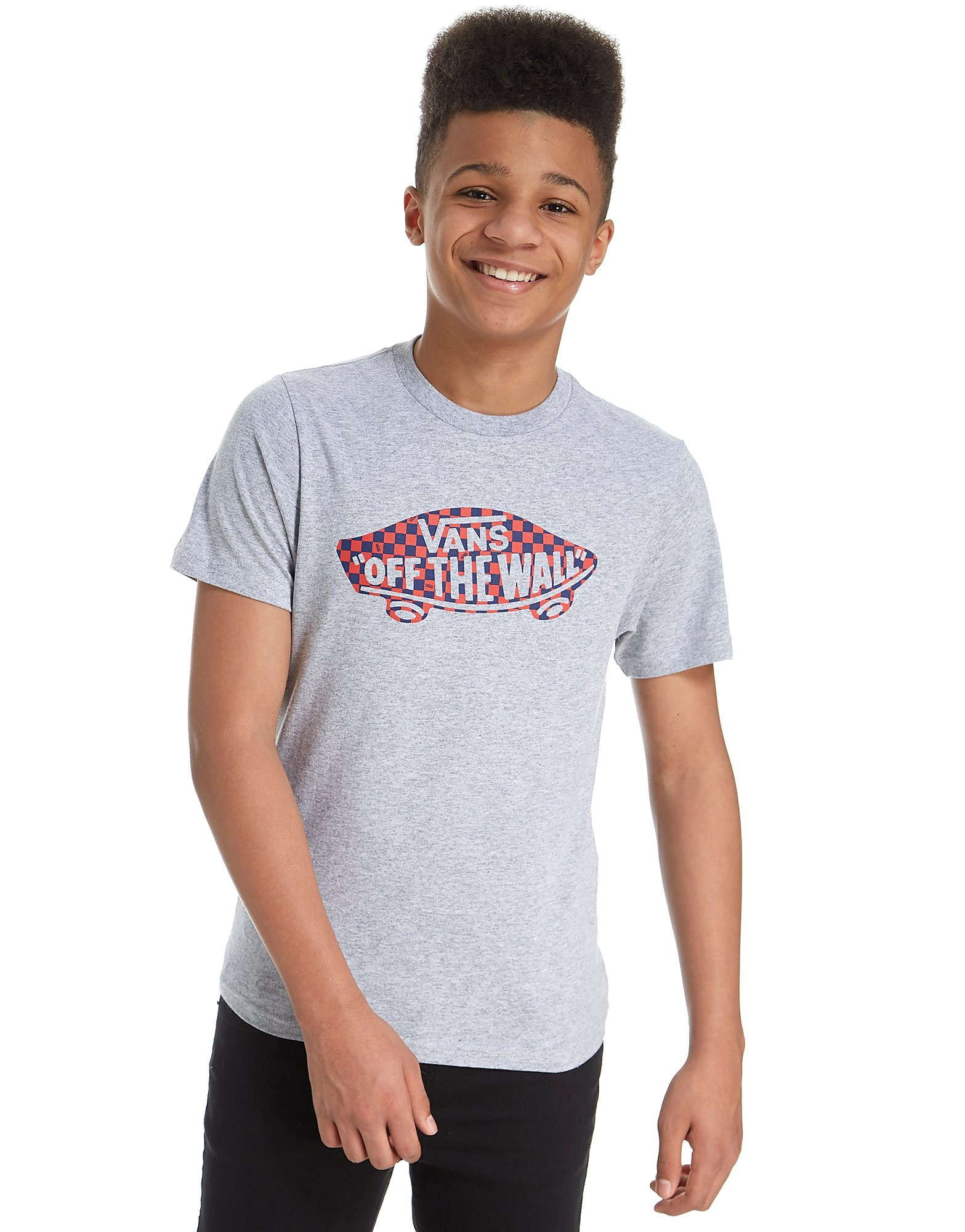 Vans Off the Wall Check Logo T-Shirt Junior