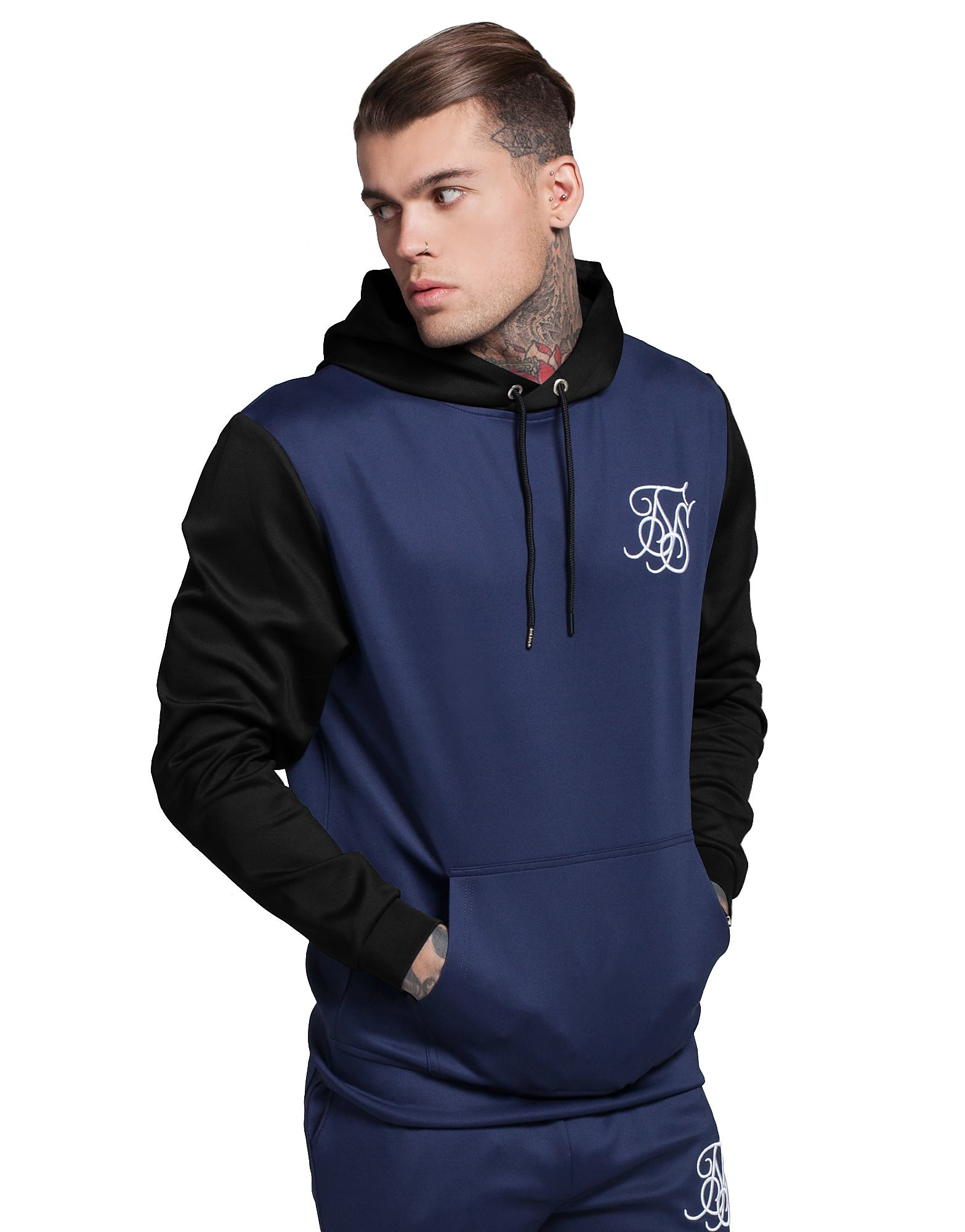 SikSilk Sweat à capuche Contrast Sleeve Poly Homme