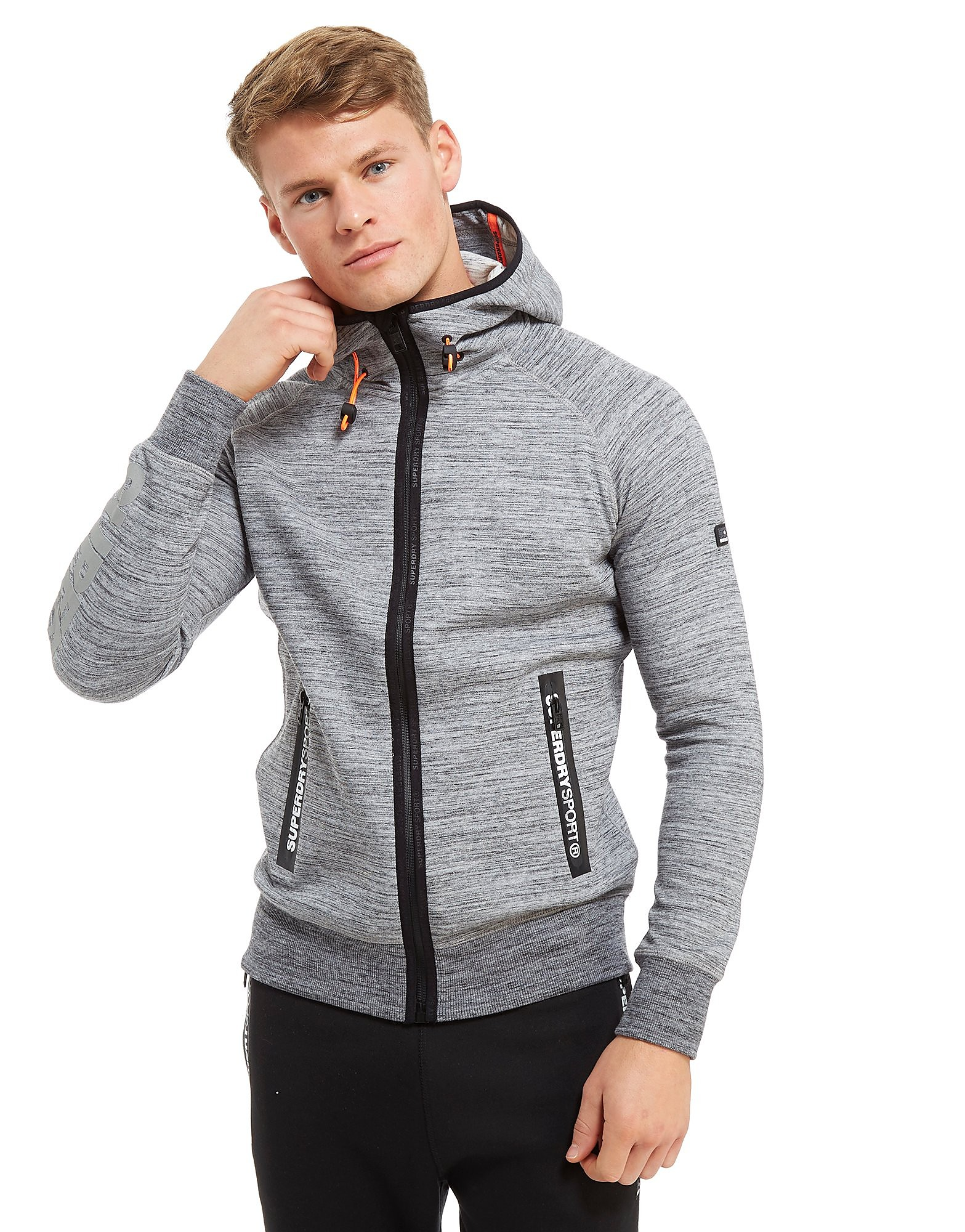 Superdry Sport Gym Tech Zip Through Hoodie