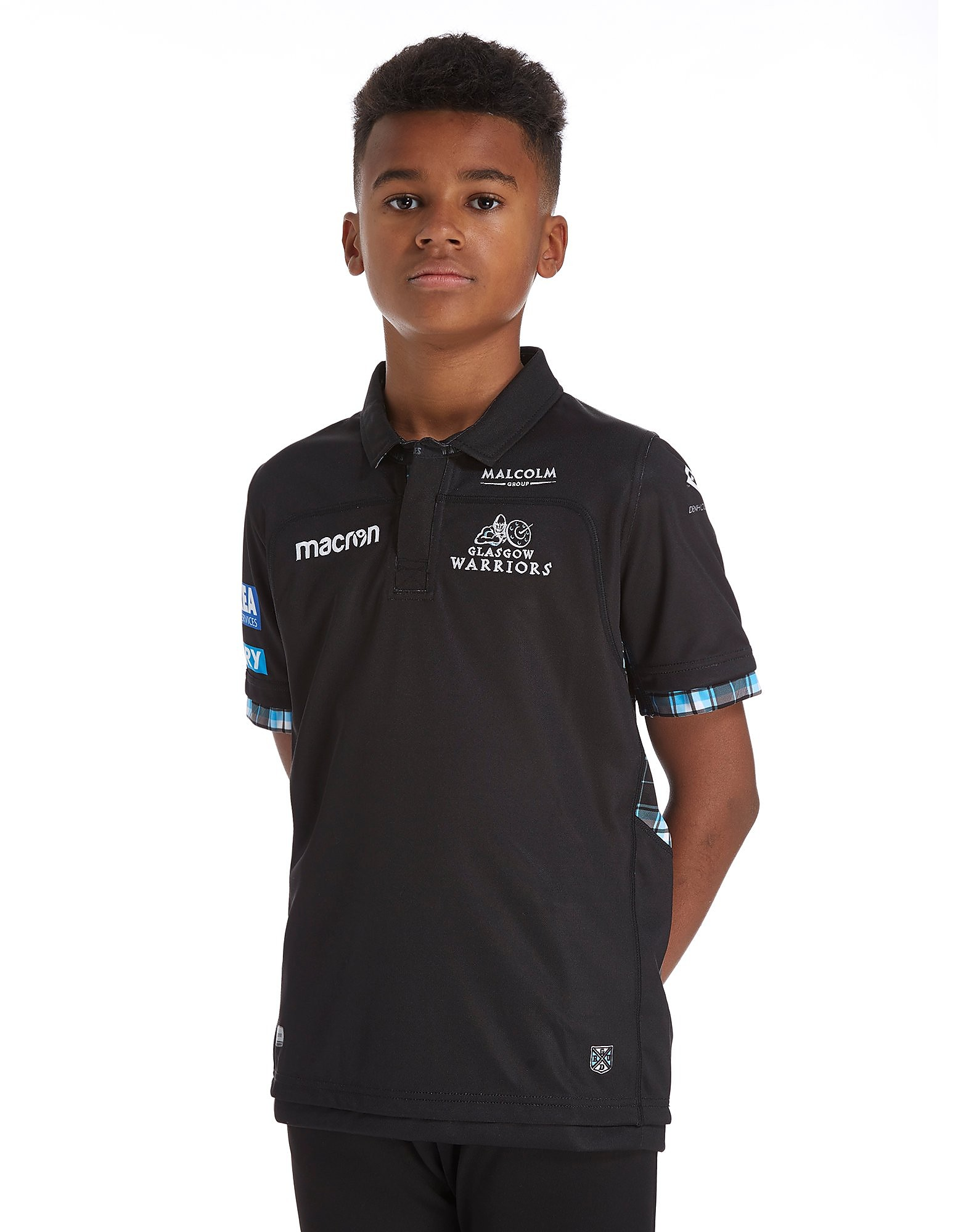 Macron Glasgow Warriors 2017/18 Home Shirt Junior