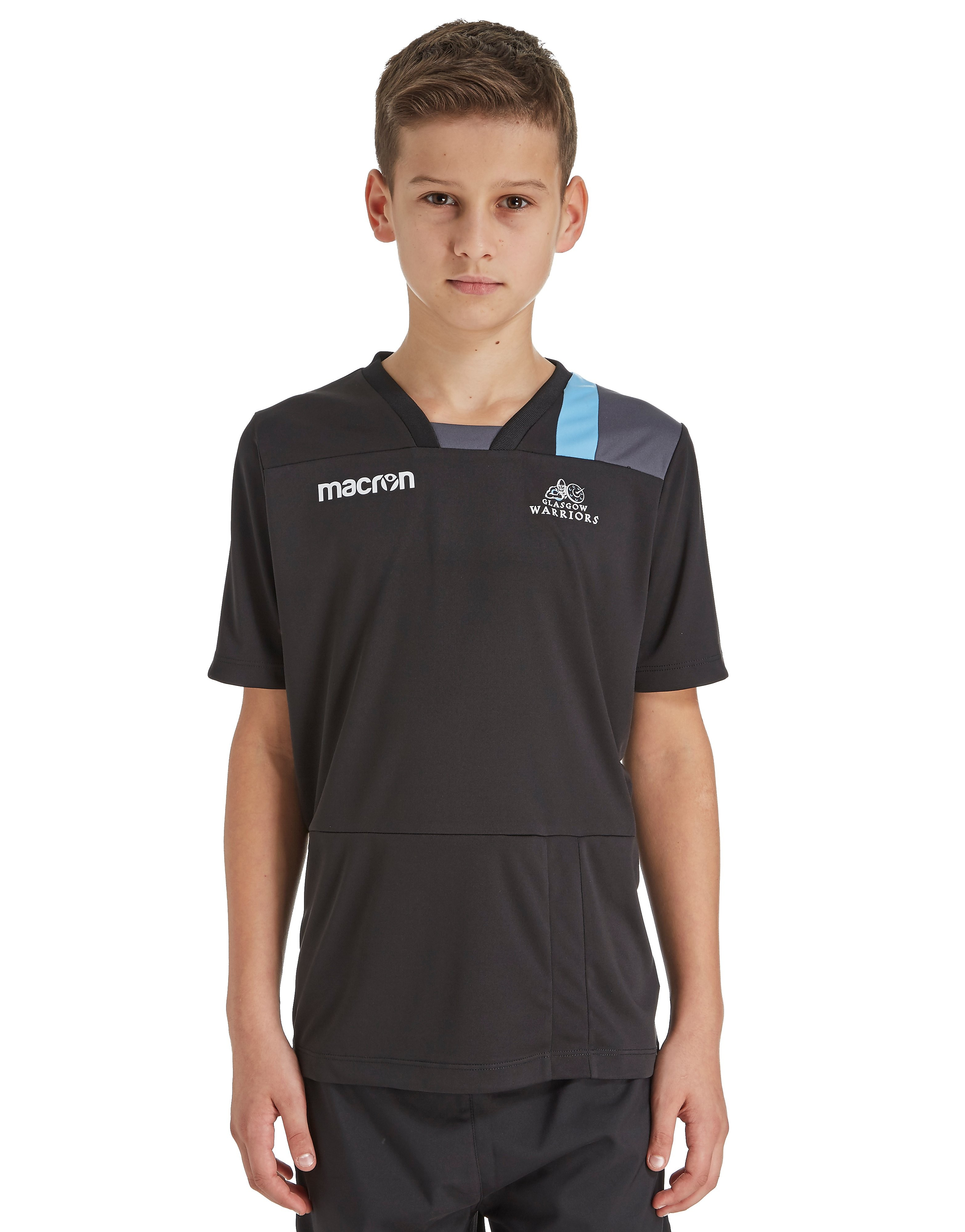 Macron Glasgow Warriors T-Shirt Junior - Black, Black