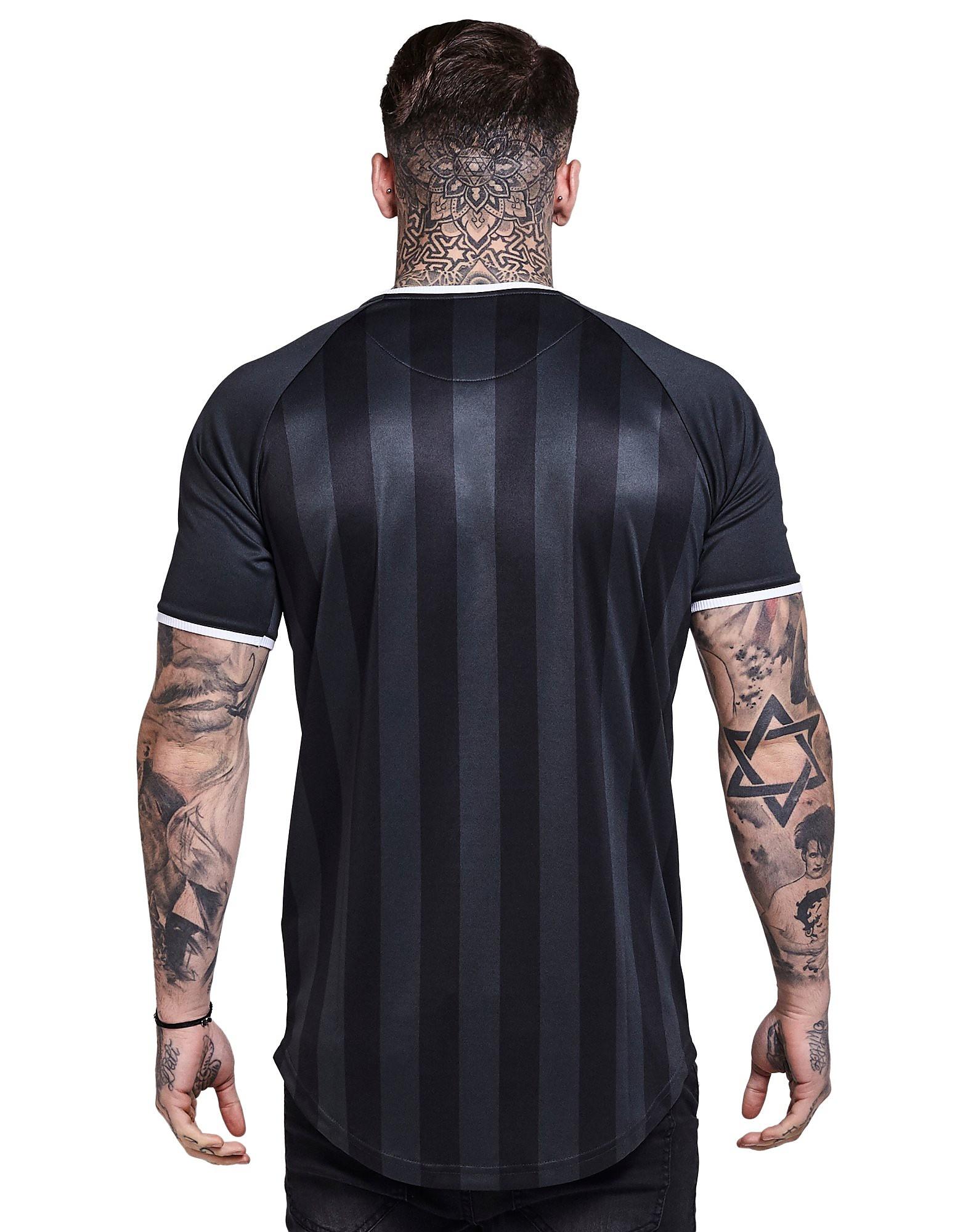 SikSilk Retro Football Stripe T-Shirt