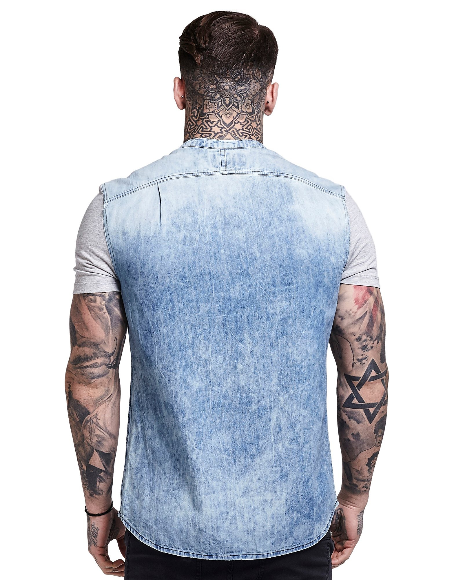 SikSilk Short Sleeve Denim Skjorta